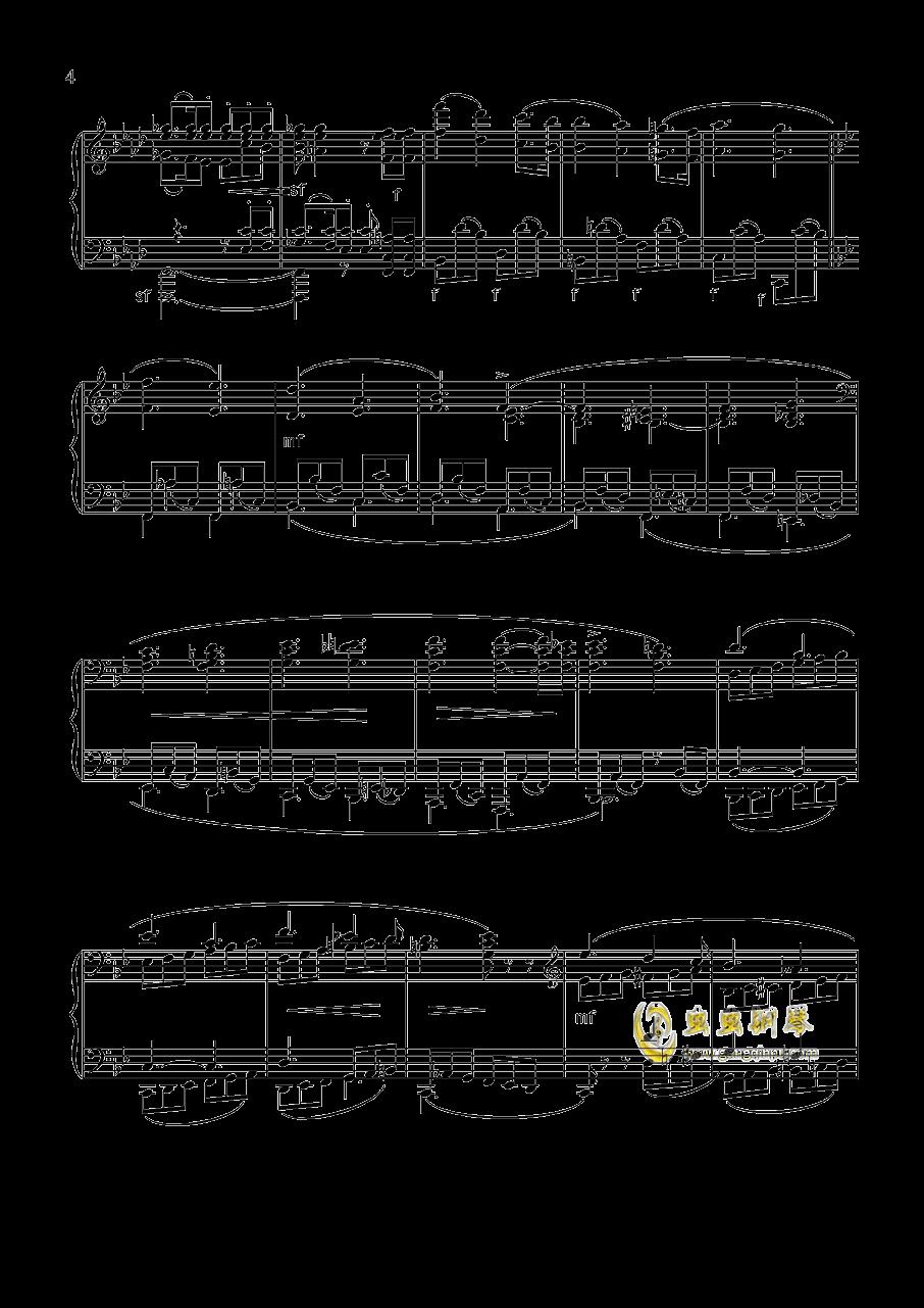 舒曼 幻想曲集 Op.12 冲动钢琴谱 第4页
