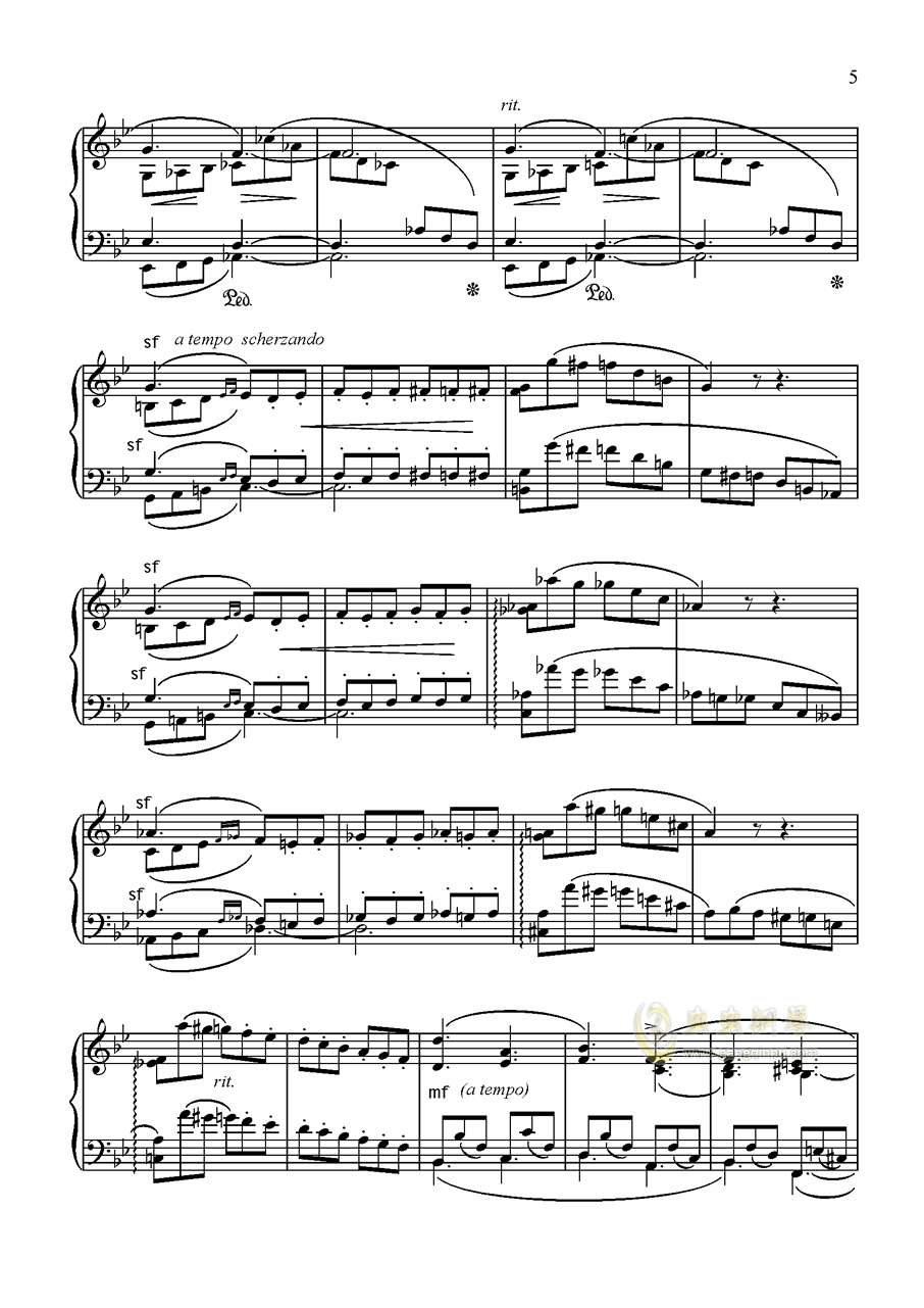 舒曼 幻想曲集 Op.12 冲动钢琴谱 第5页