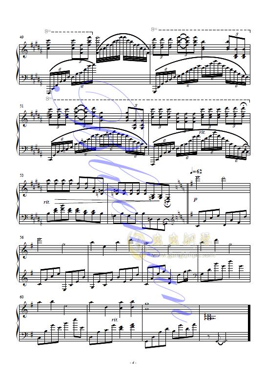 我和你钢琴谱 第4页