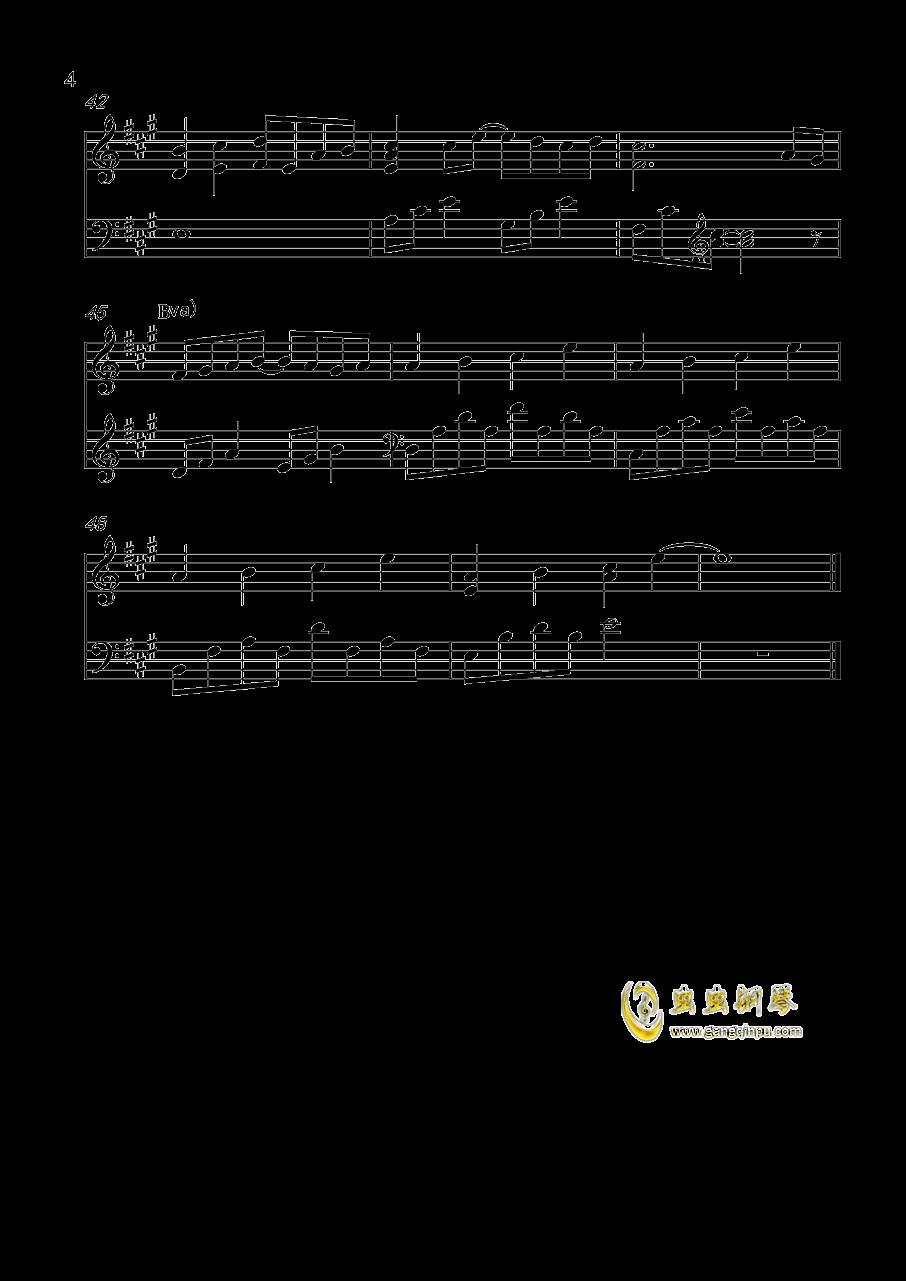 忘了牵手钢琴谱 第4页