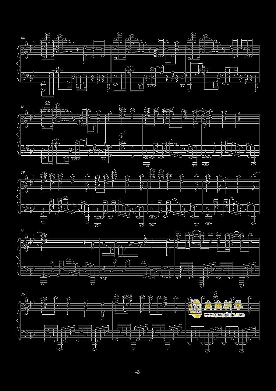 甲铁城的卡巴内瑞钢琴谱 第2页
