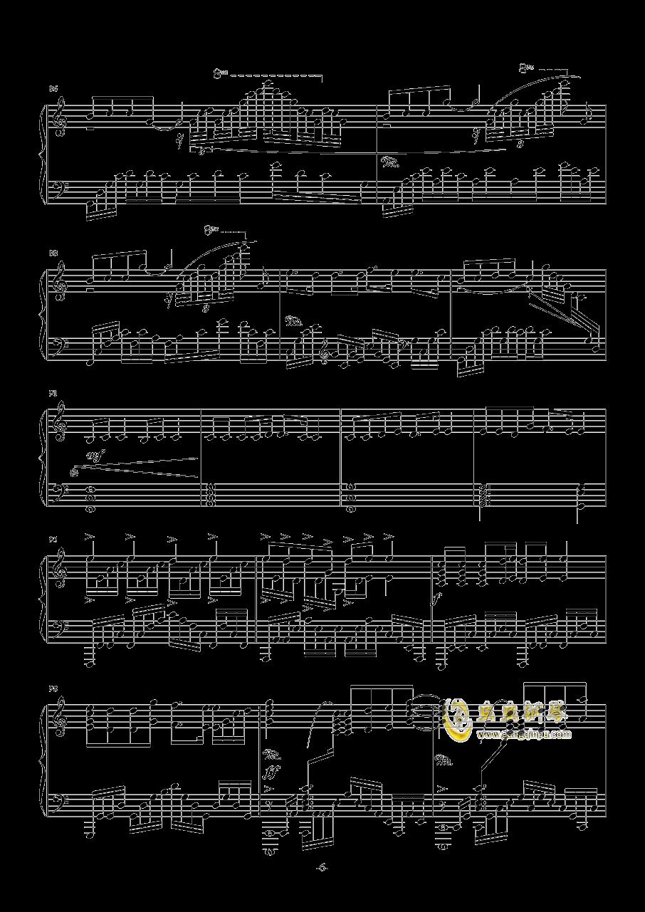 甲铁城的卡巴内瑞钢琴谱 第6页