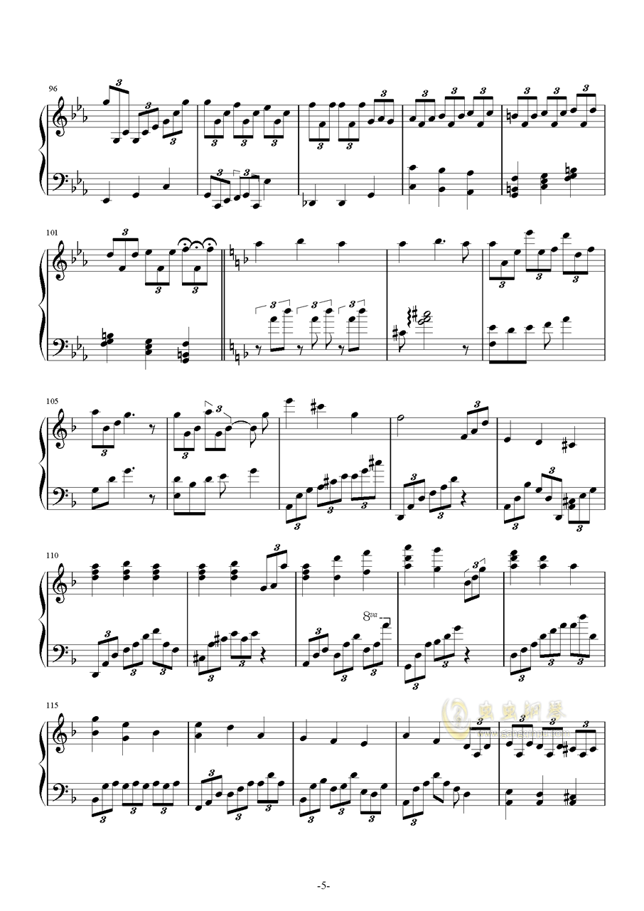 Leningrad 钢琴谱 第5页