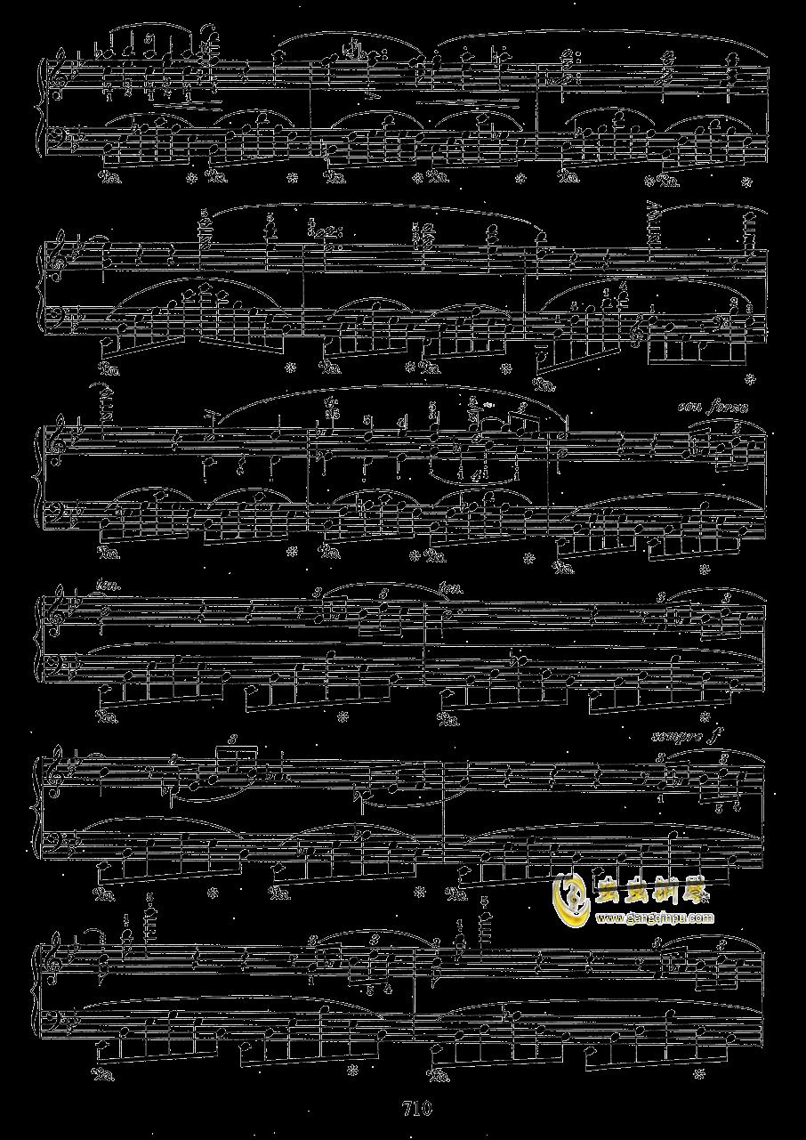 g小调叙事曲 带指法版钢琴谱 第10页