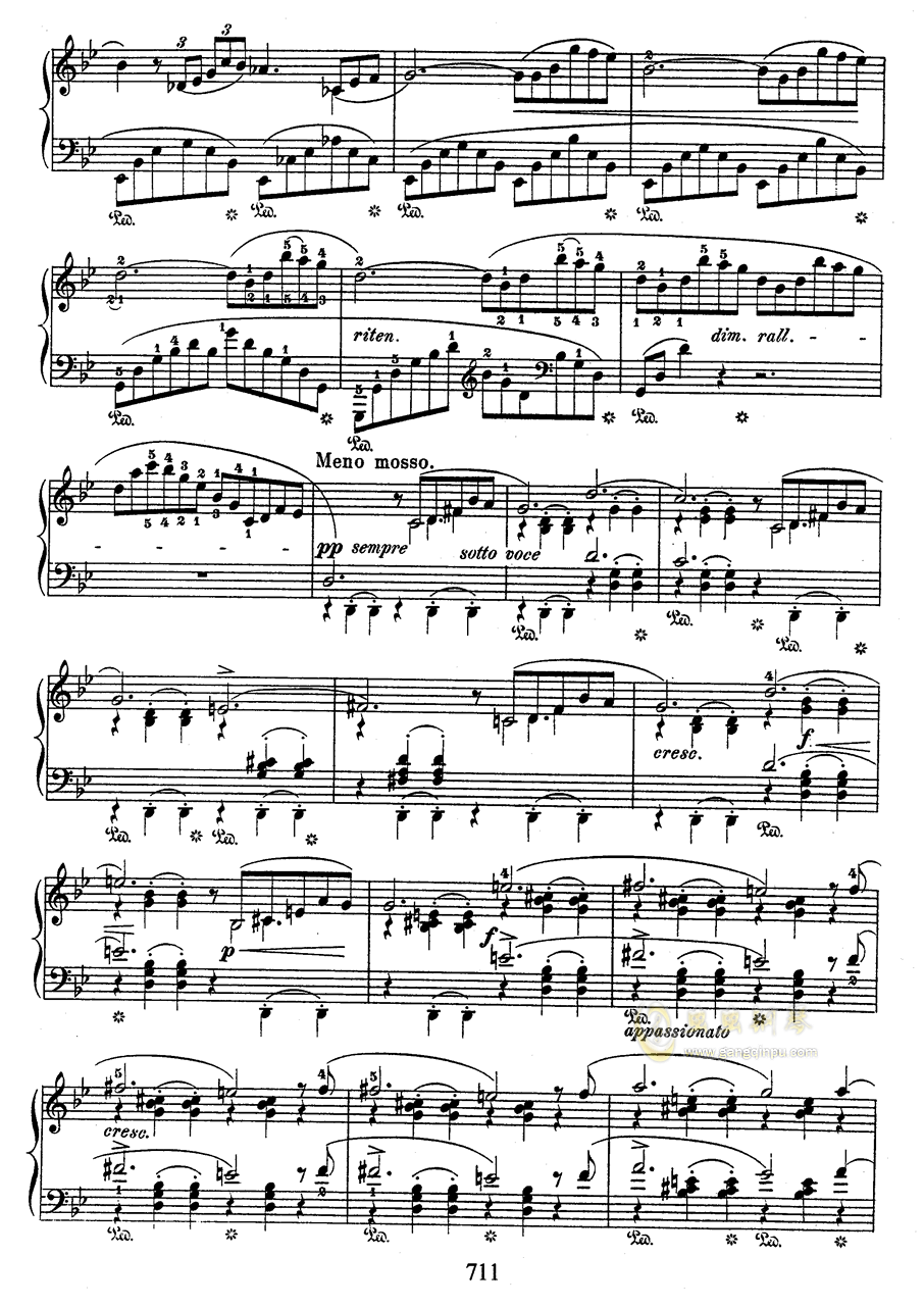 g小调叙事曲 带指法版钢琴谱 第11页