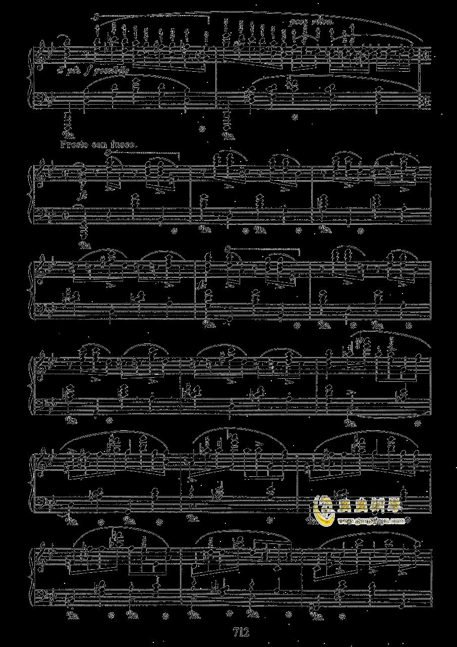 g小调叙事曲 带指法版钢琴谱 第12页