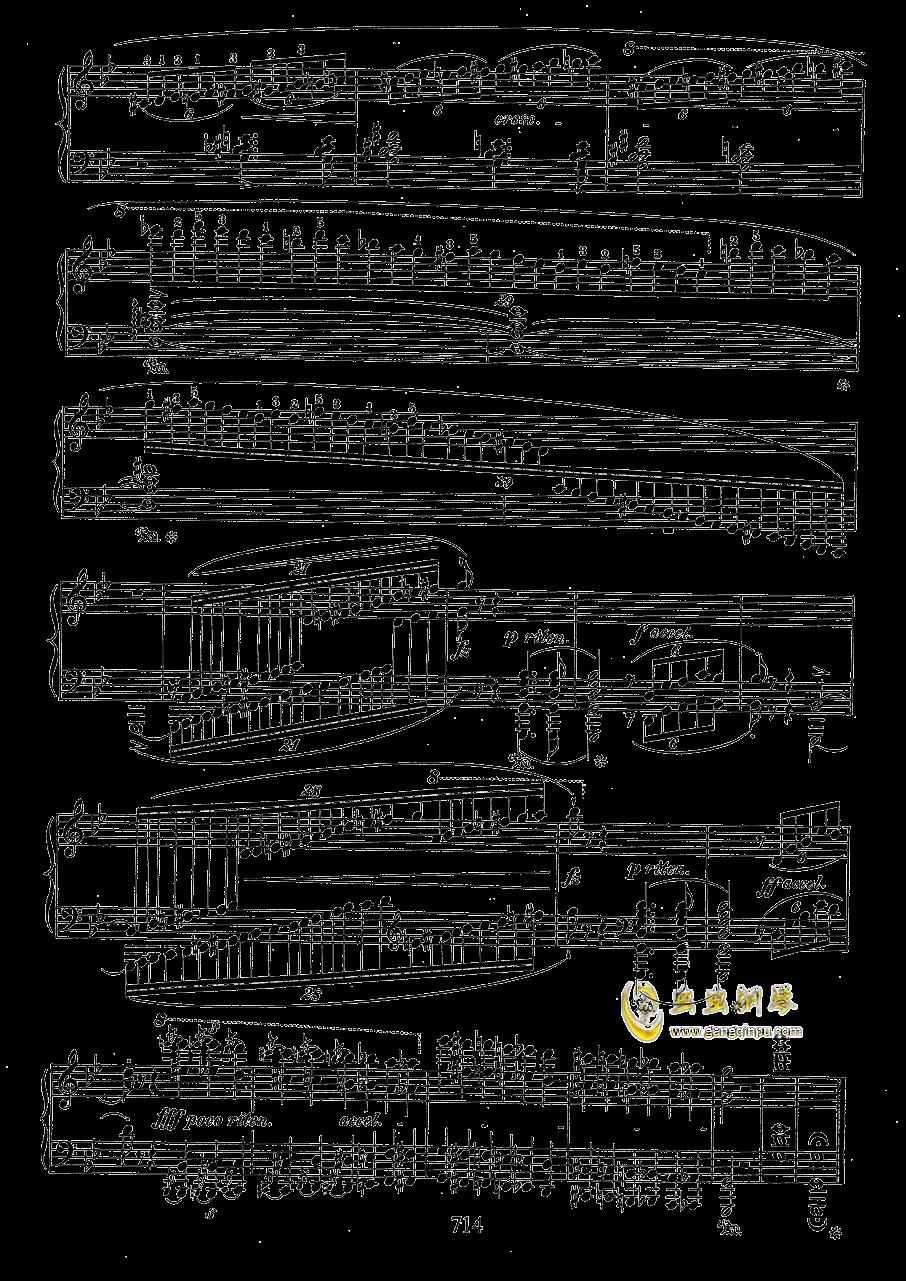 g小调叙事曲 带指法版钢琴谱 第14页