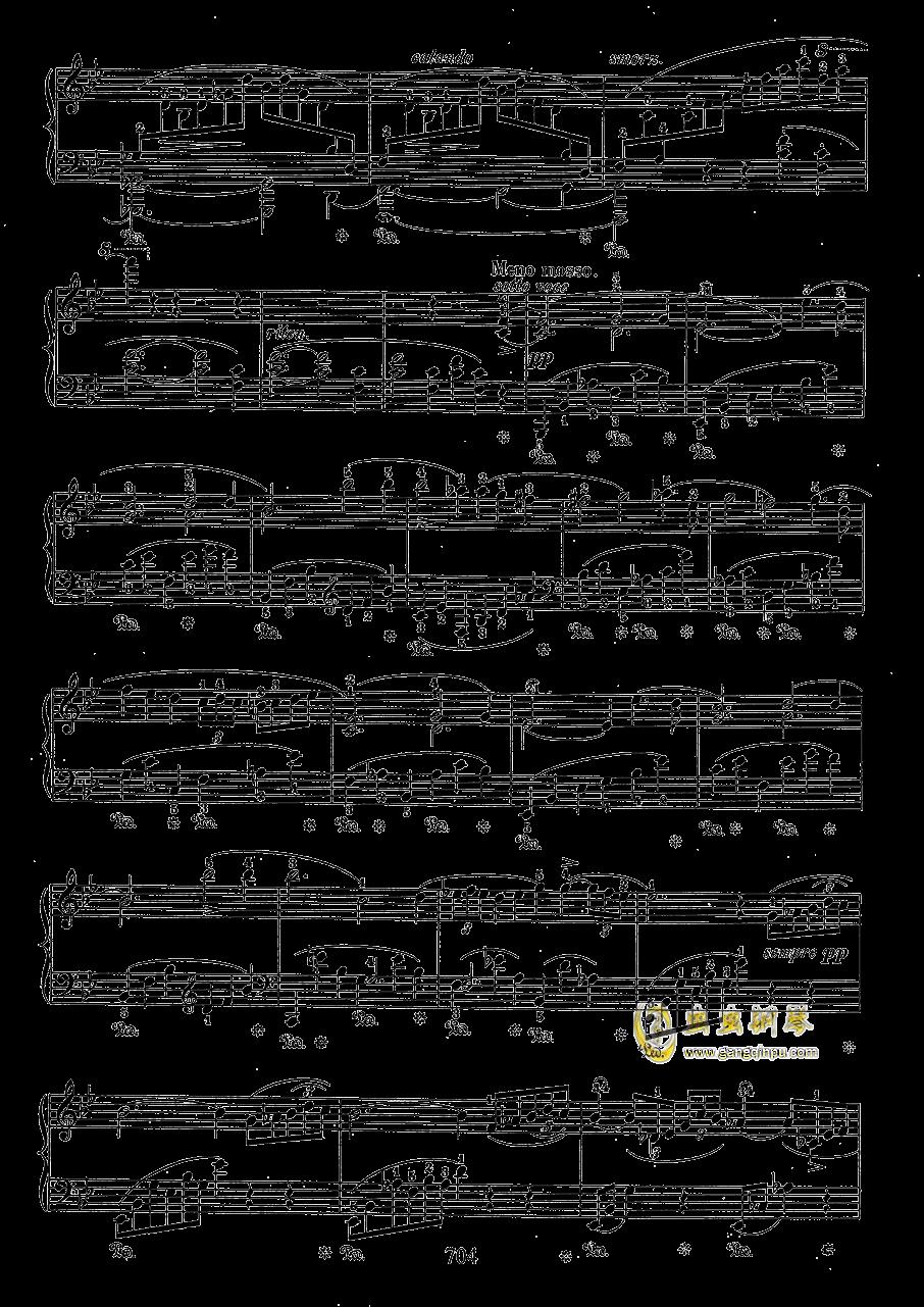 g小调叙事曲 带指法版钢琴谱 第4页