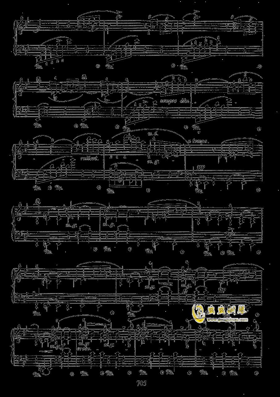 g小调叙事曲 带指法版钢琴谱 第5页
