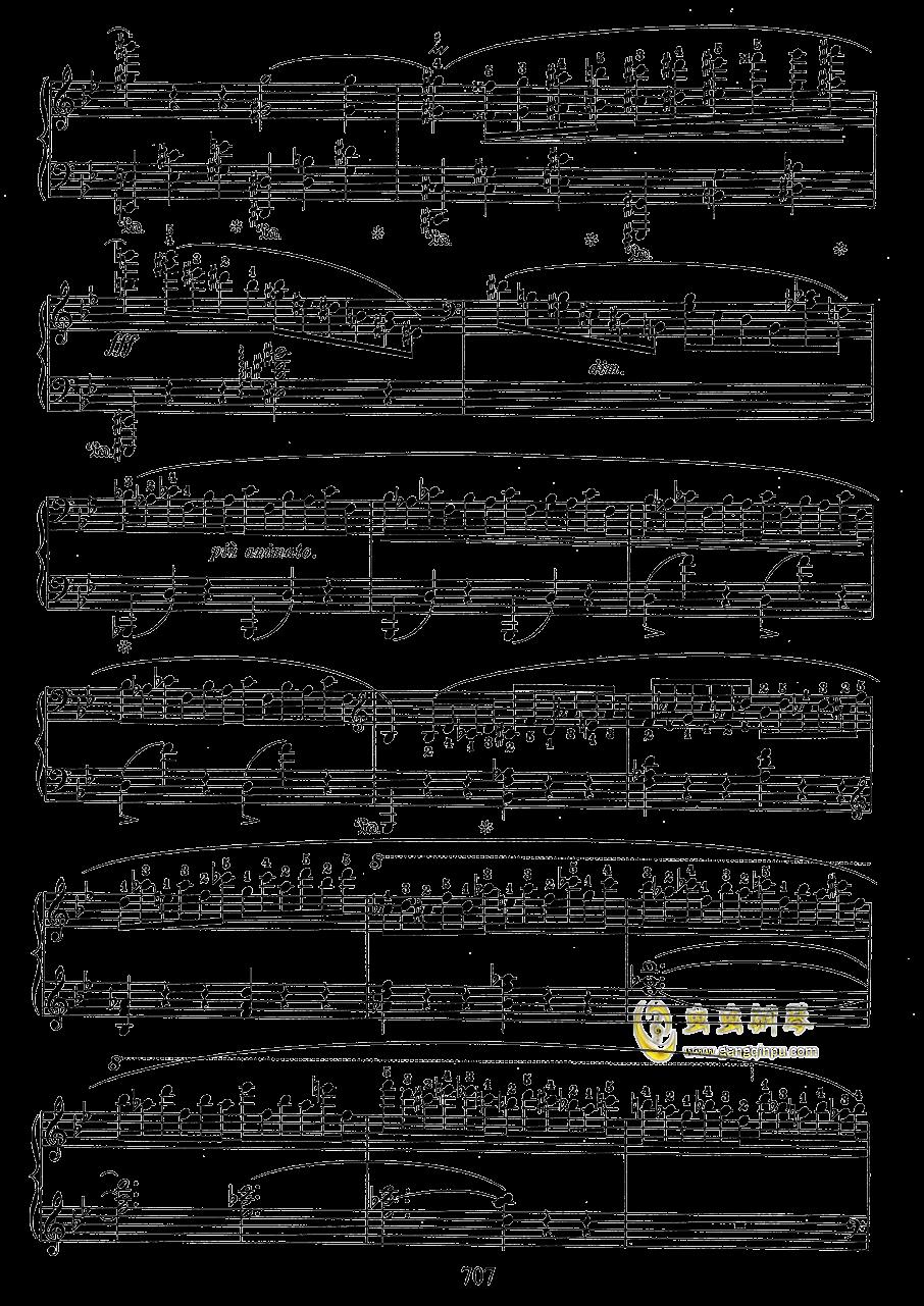g小调叙事曲 带指法版钢琴谱 第7页