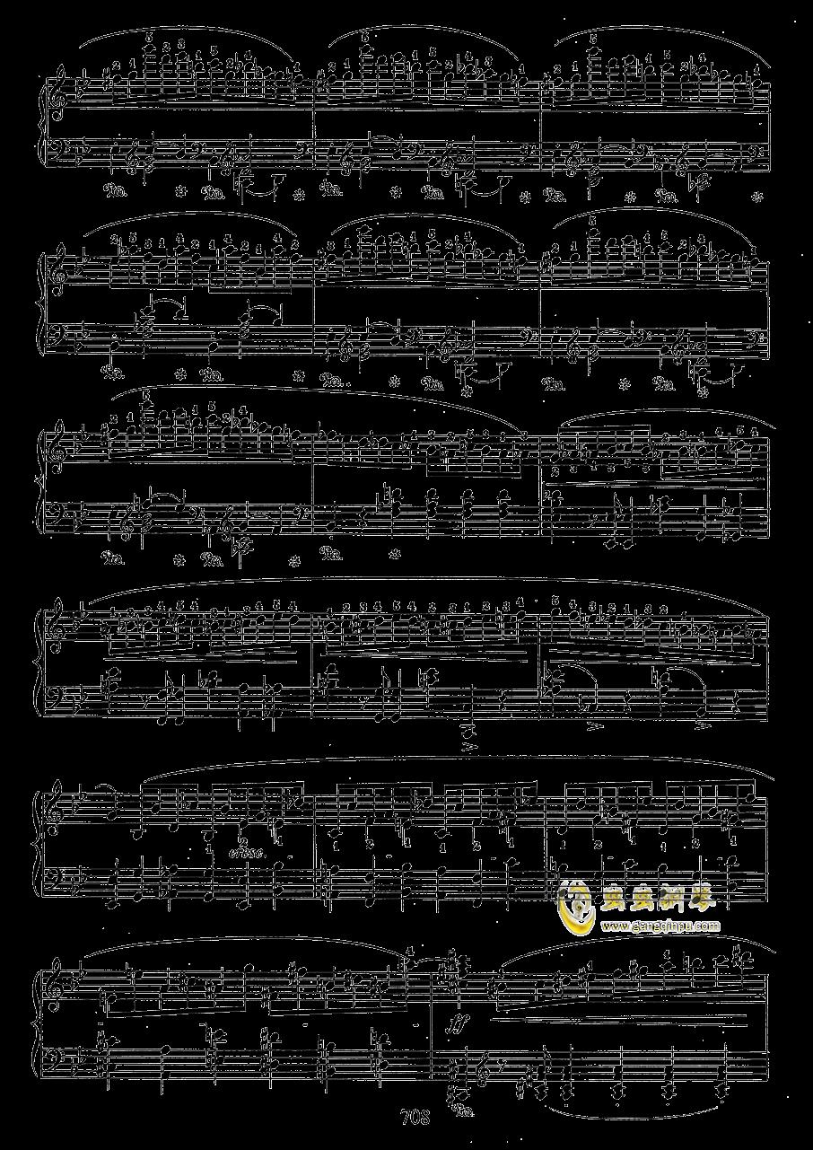 g小调叙事曲 带指法版钢琴谱 第8页