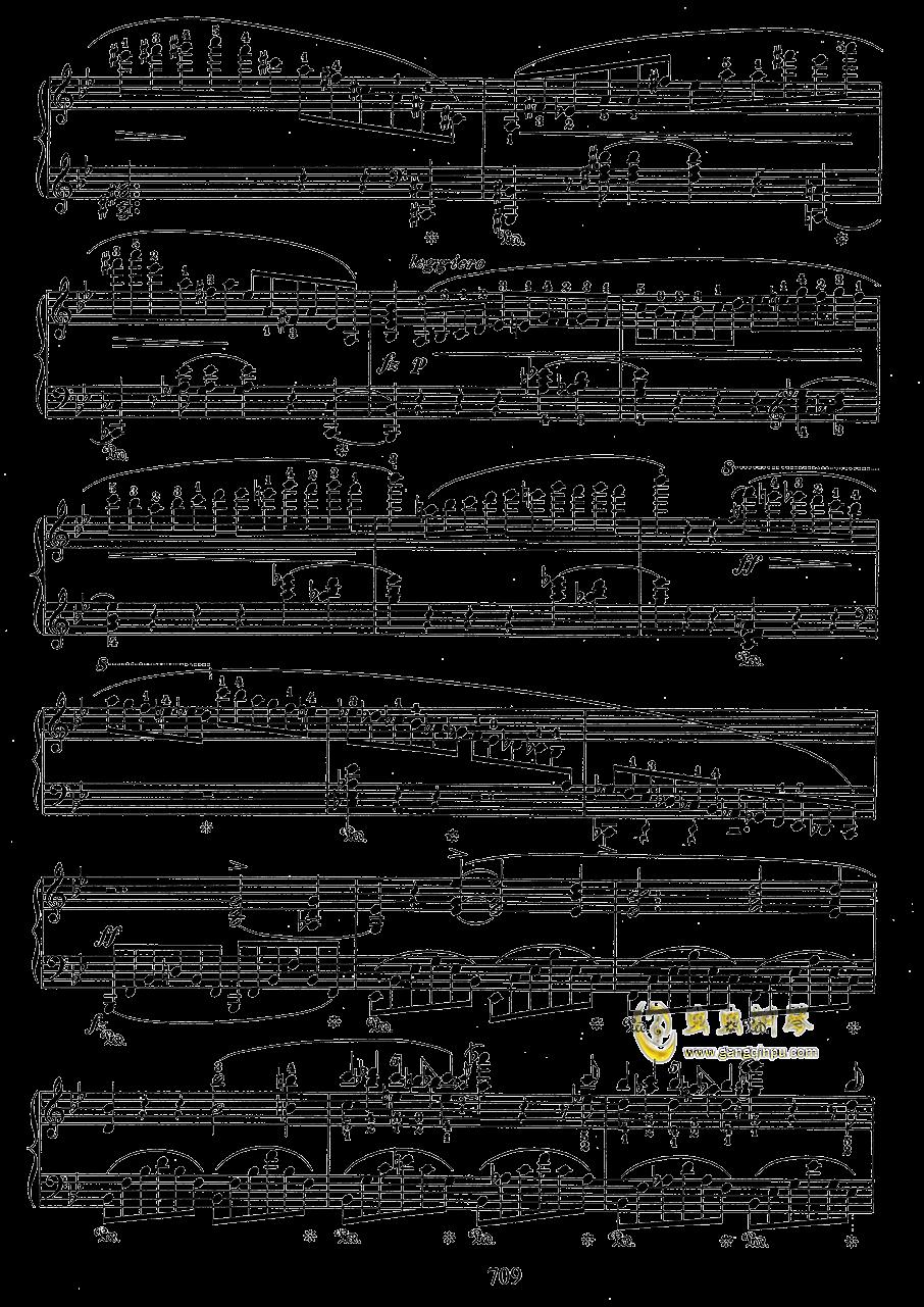 g小调叙事曲 带指法版钢琴谱 第9页