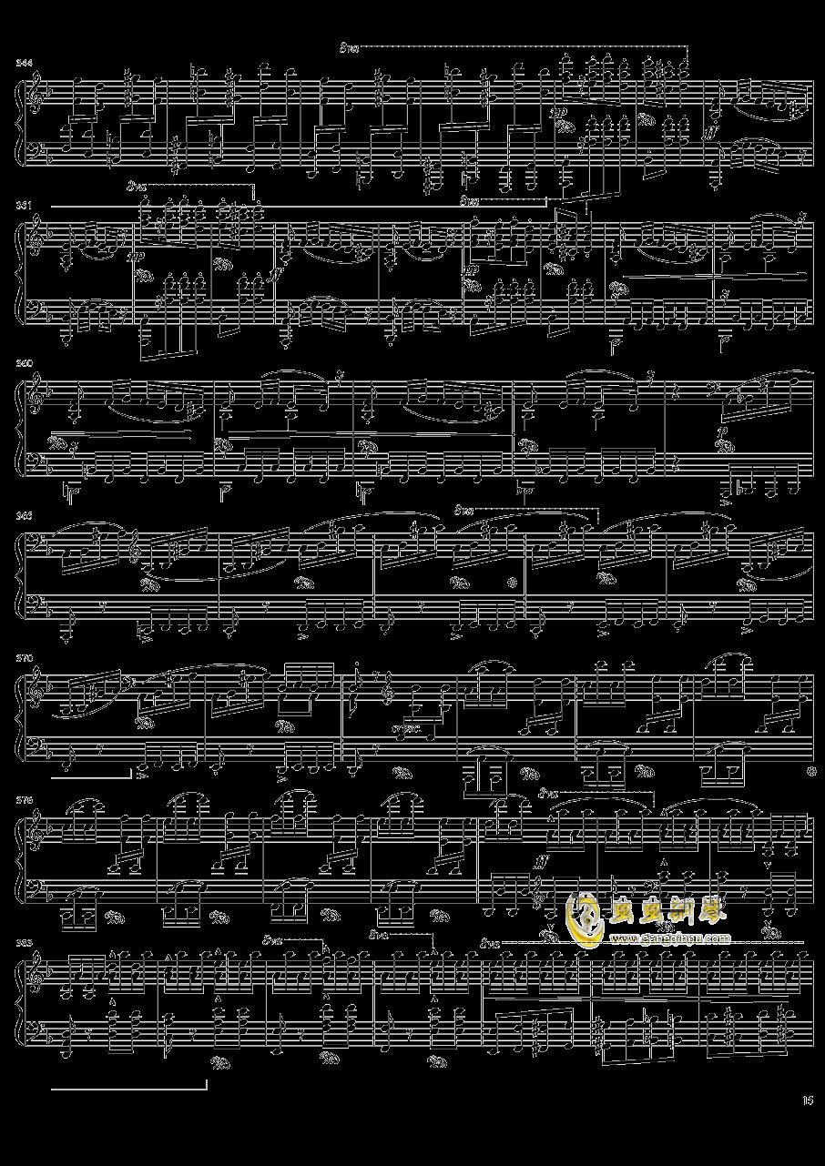 死之舞钢琴谱 第15页
