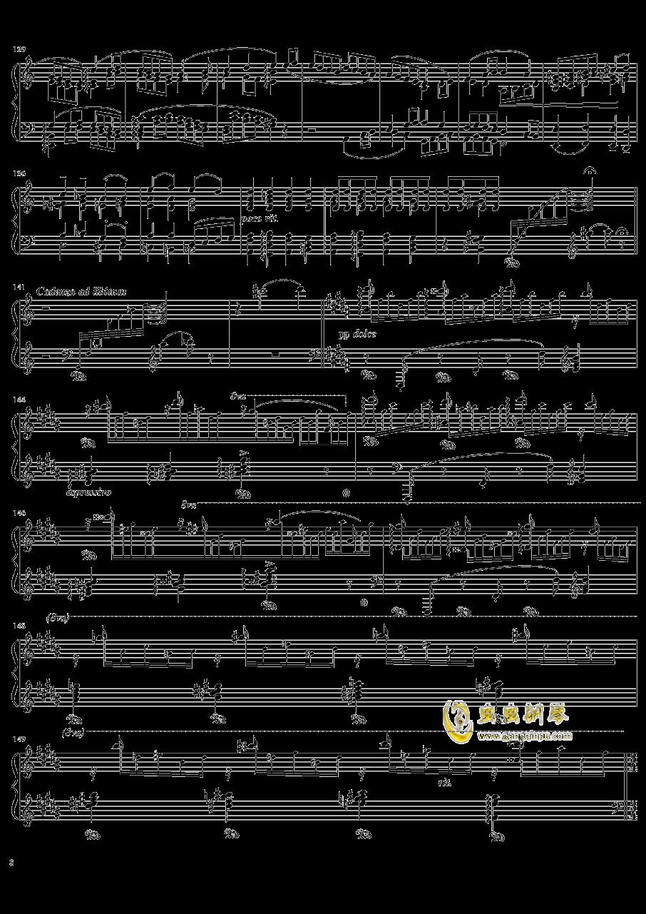 死之舞钢琴谱 第8页
