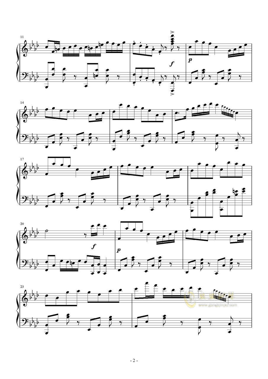 Quo Vadis钢琴谱 第2页