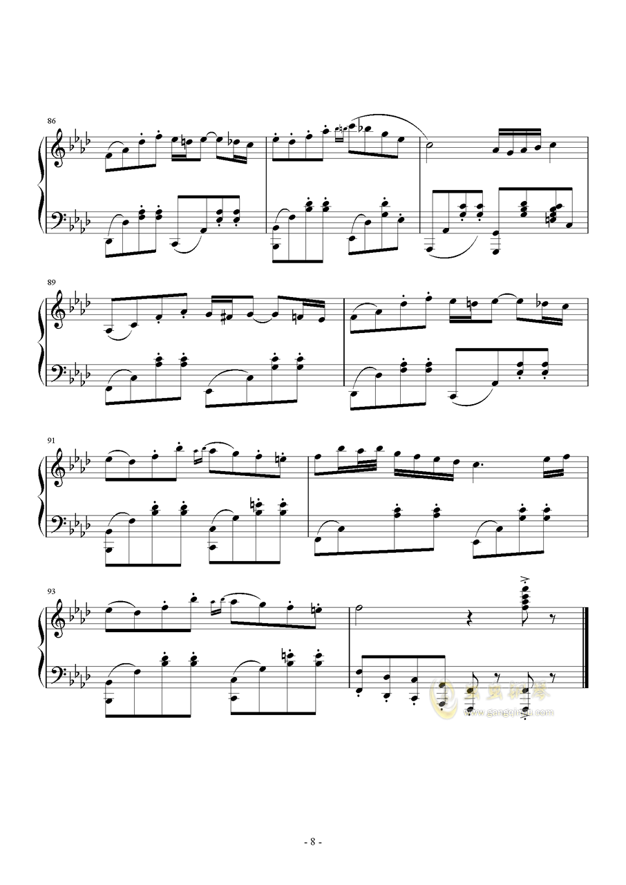 Quo Vadis钢琴谱 第8页