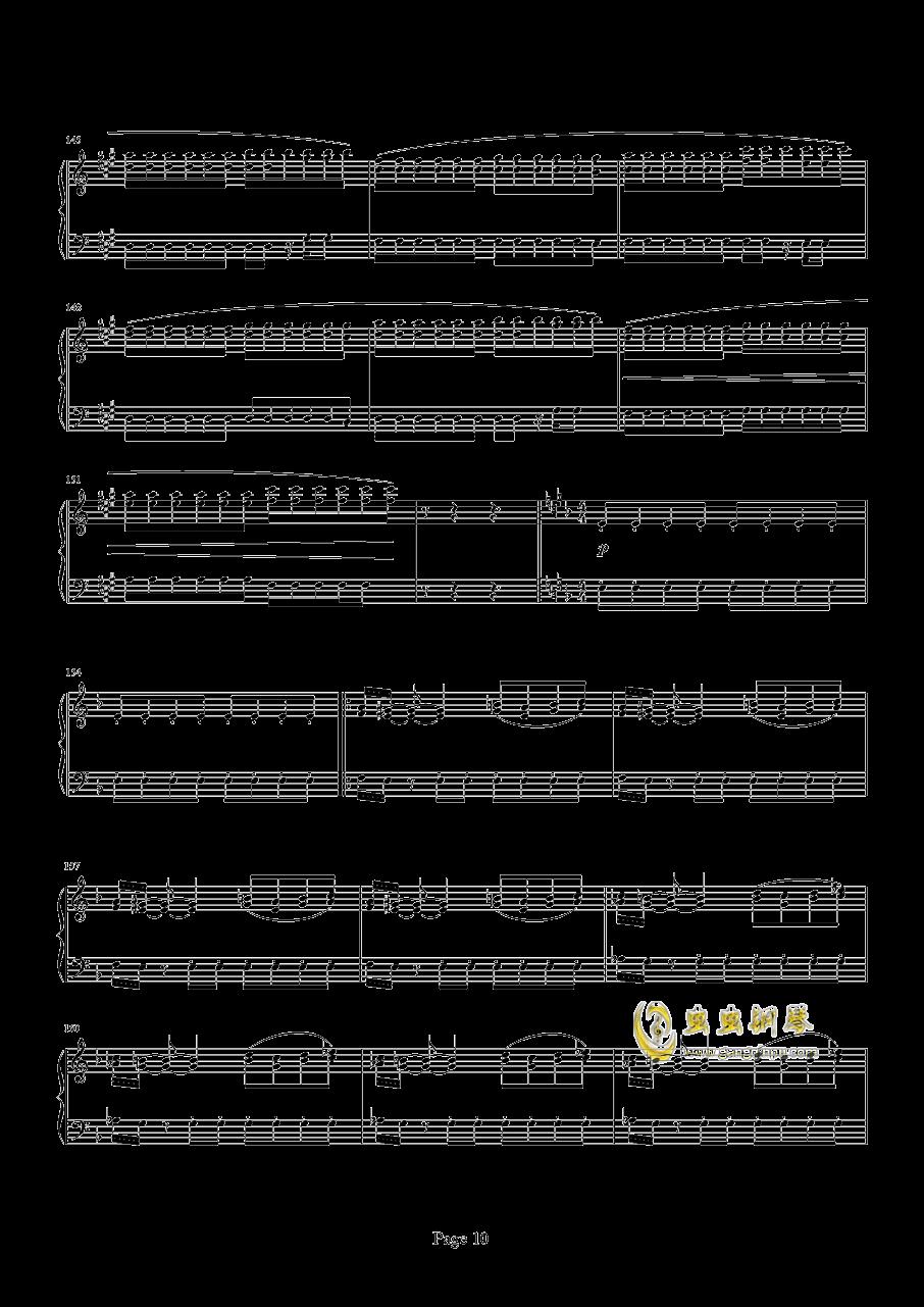 魂斗罗钢琴谱 第10页