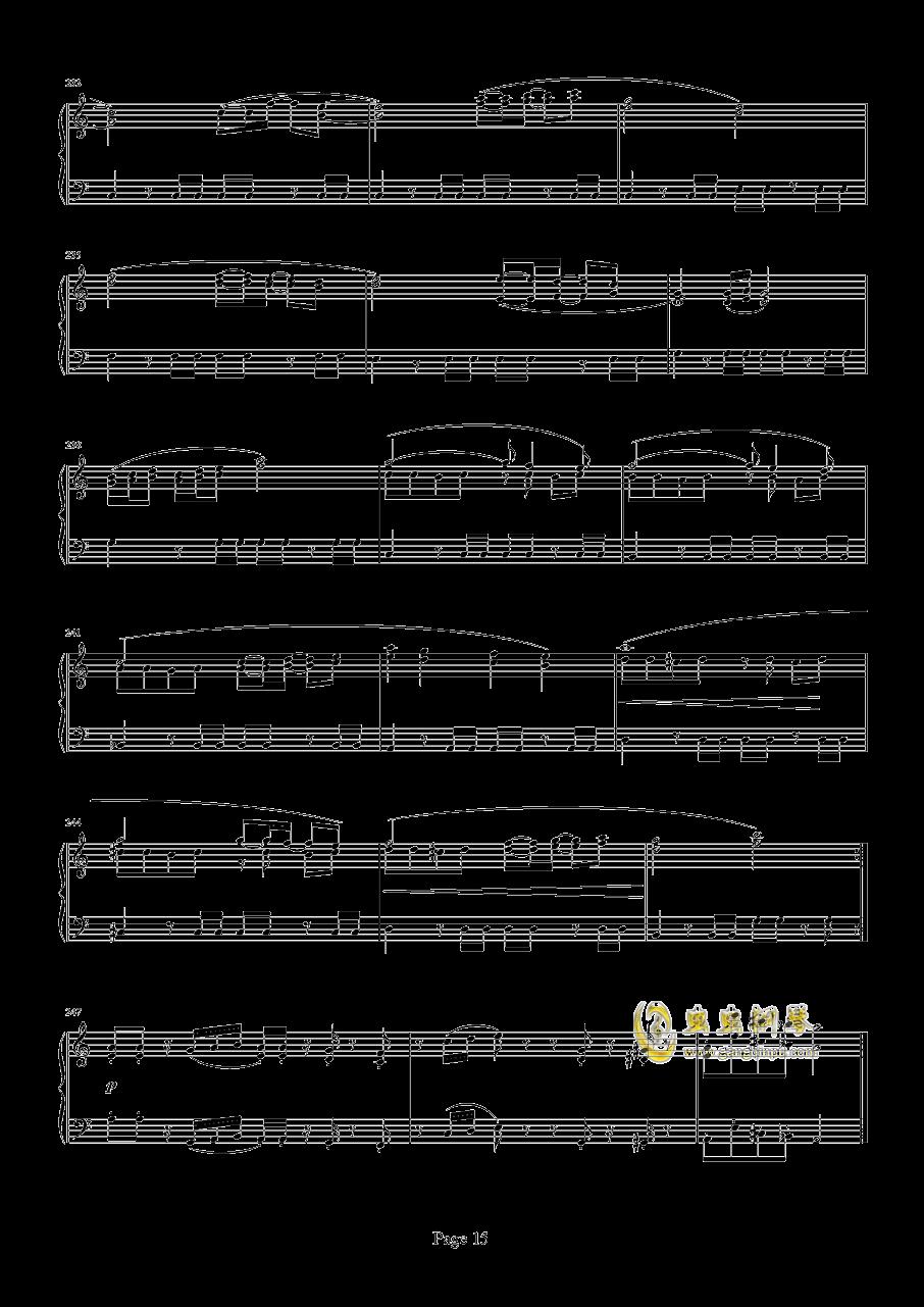 魂斗罗钢琴谱 第15页