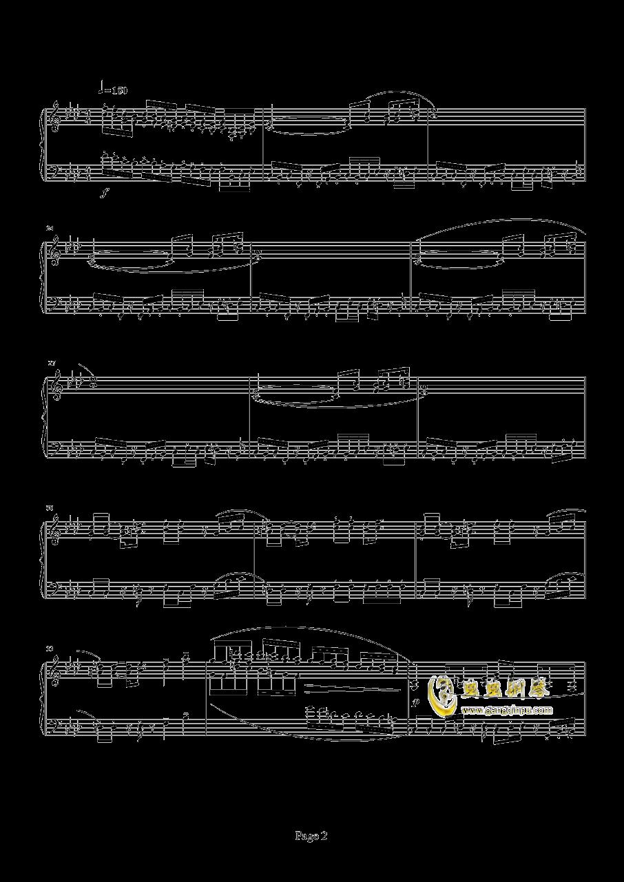 魂斗罗钢琴谱 第2页