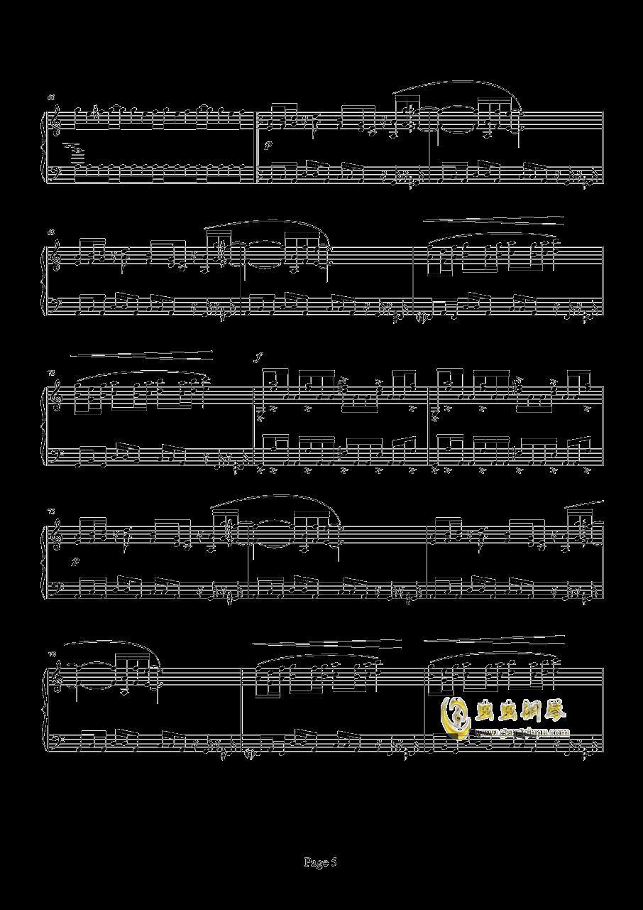 魂斗罗钢琴谱 第5页