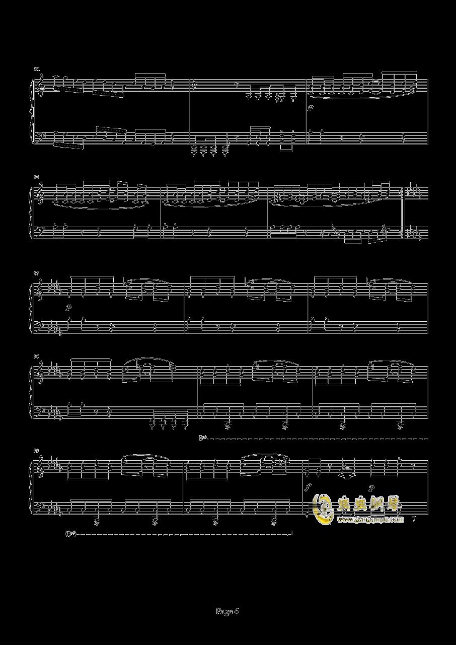 魂斗罗钢琴谱 第6页