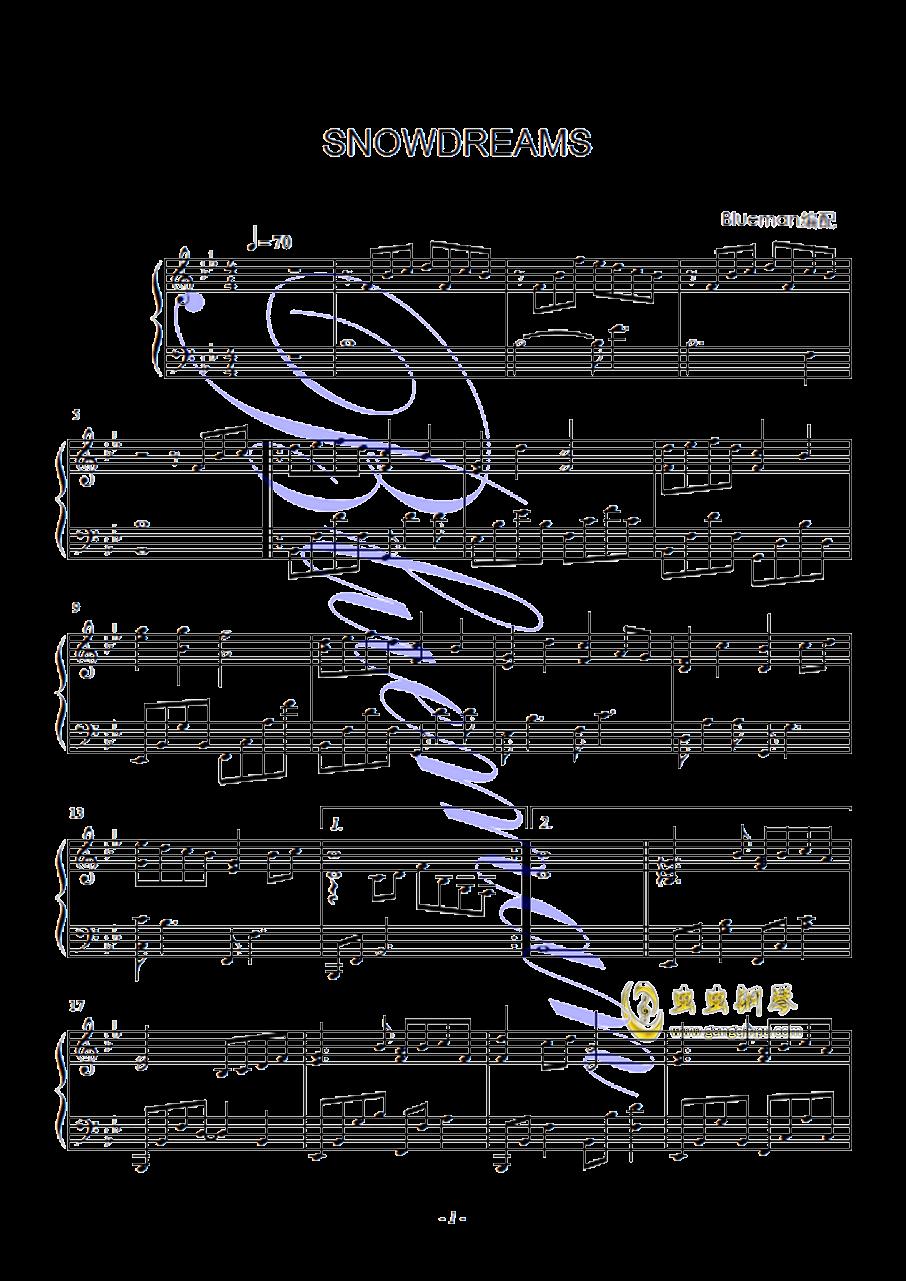 Snowdream钢琴谱 第1页