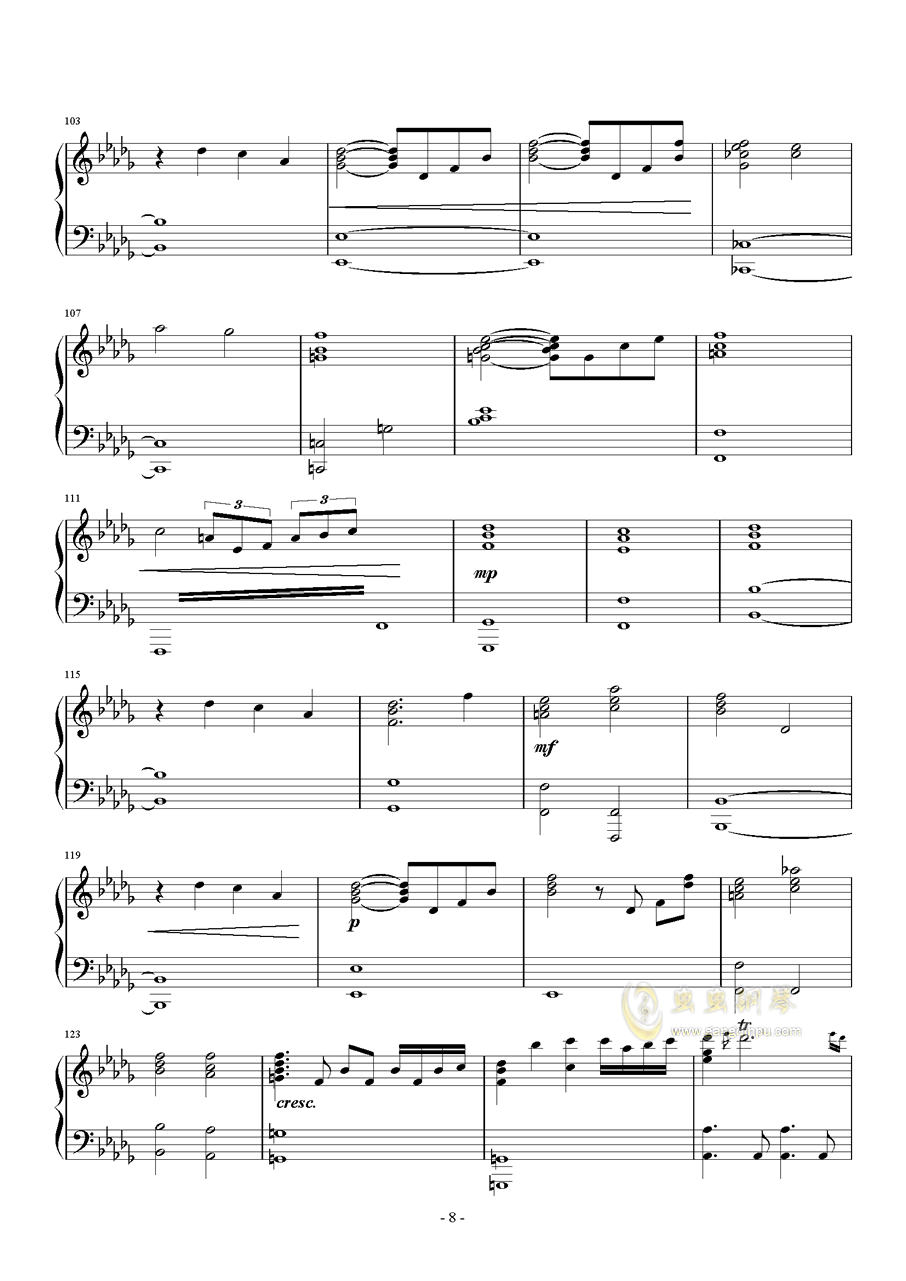 ANiMA钢琴谱 第8页