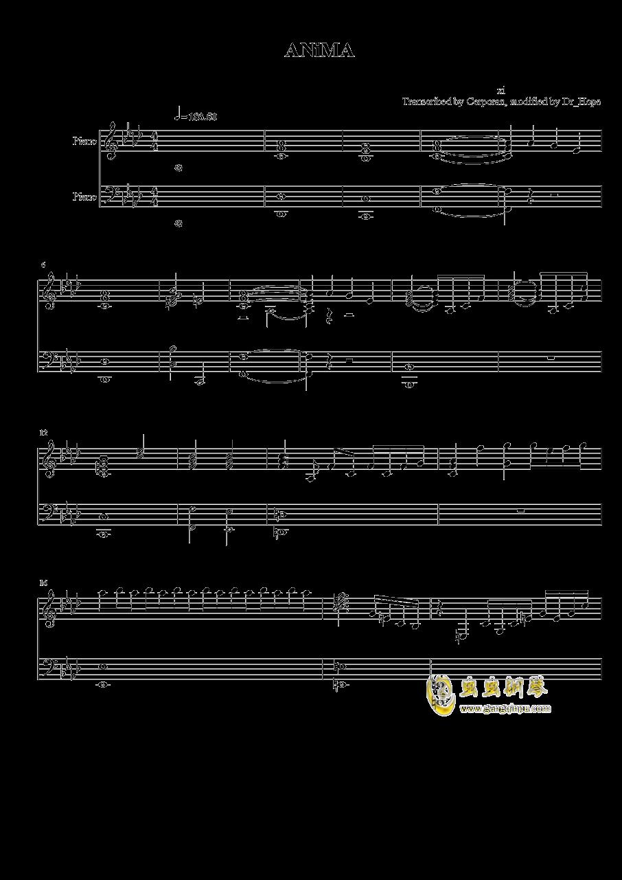 ANiMA钢琴谱 第1页