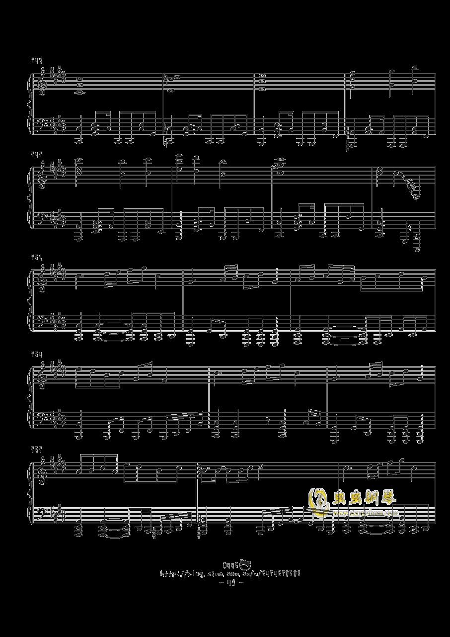 幻想游戏钢琴谱 第43页