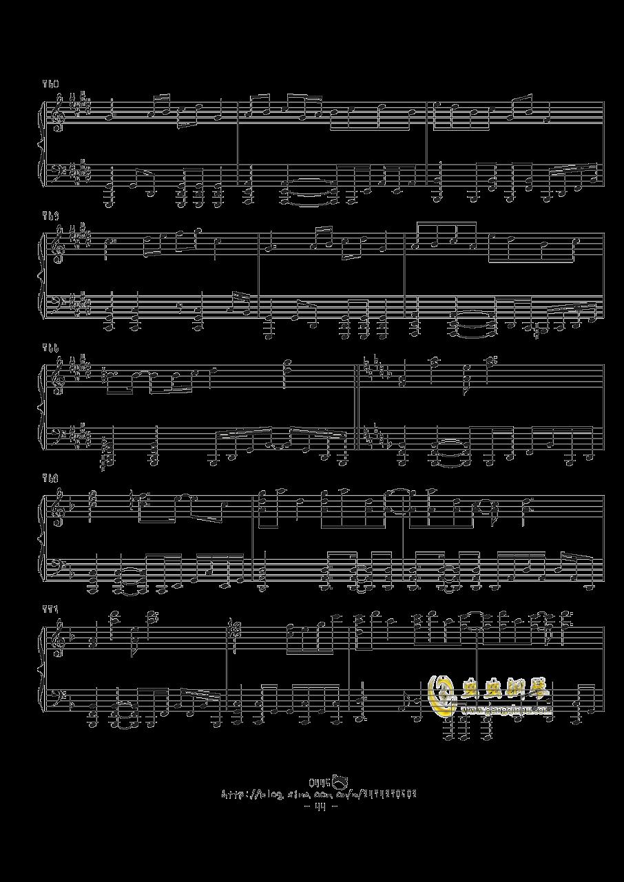 幻想游戏钢琴谱 第44页