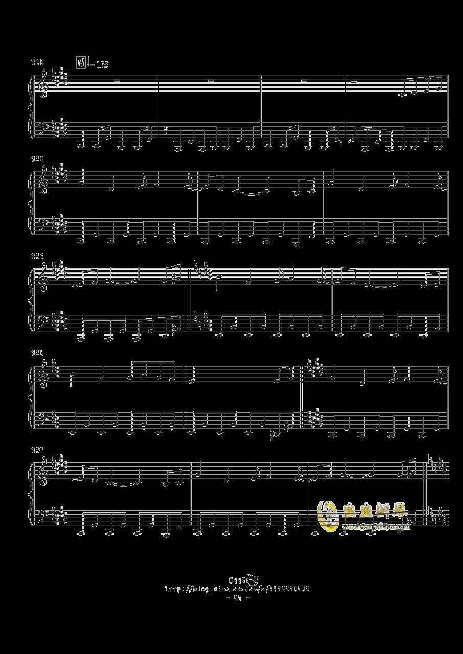 幻想游戏钢琴谱 第47页