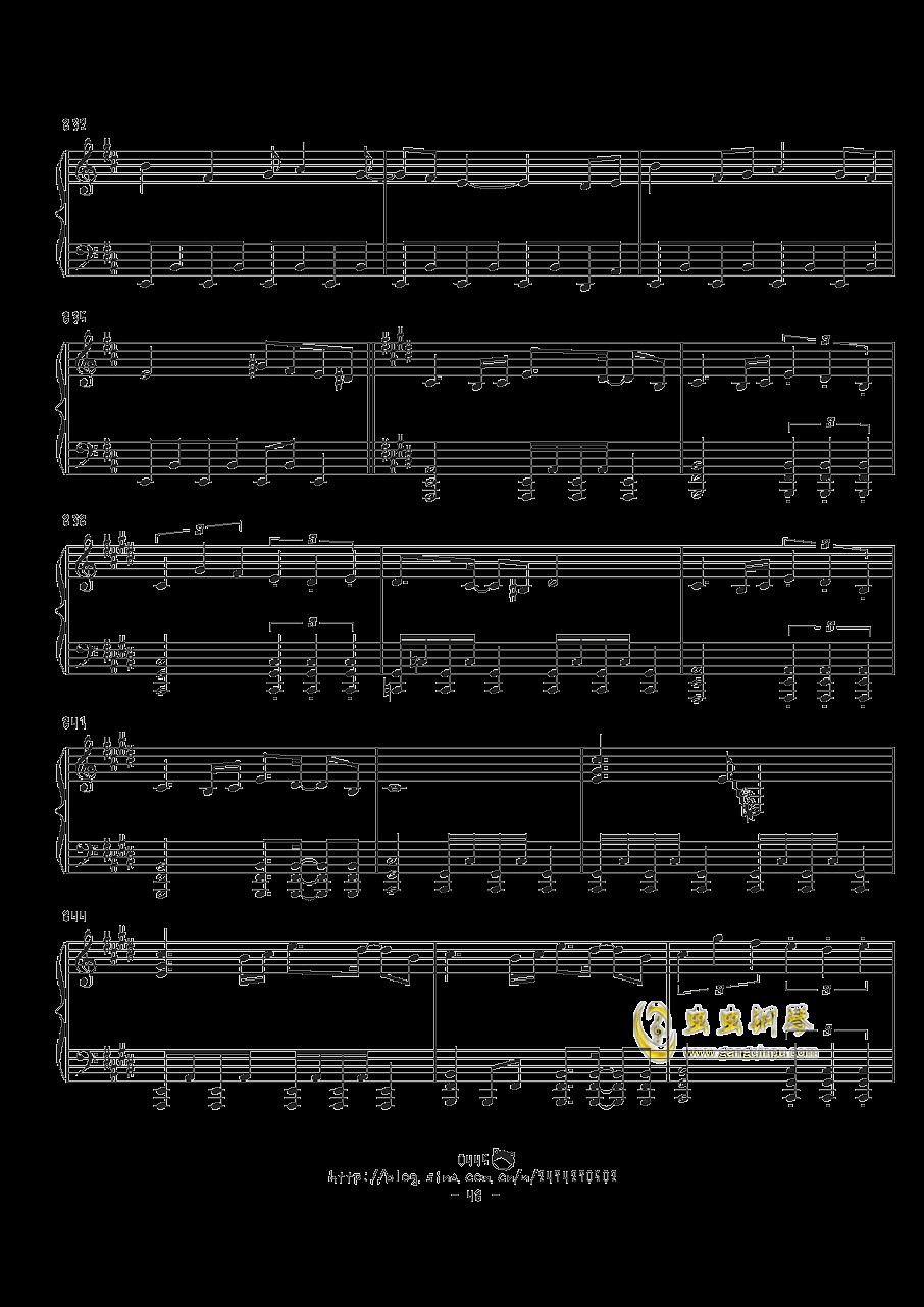 幻想游戏钢琴谱 第48页