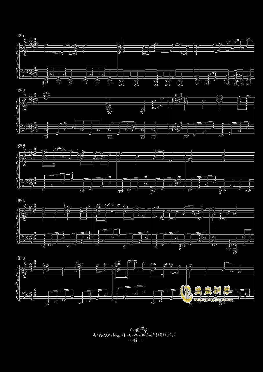 幻想游戏钢琴谱 第49页
