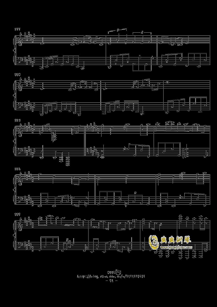 幻想游戏钢琴谱 第51页