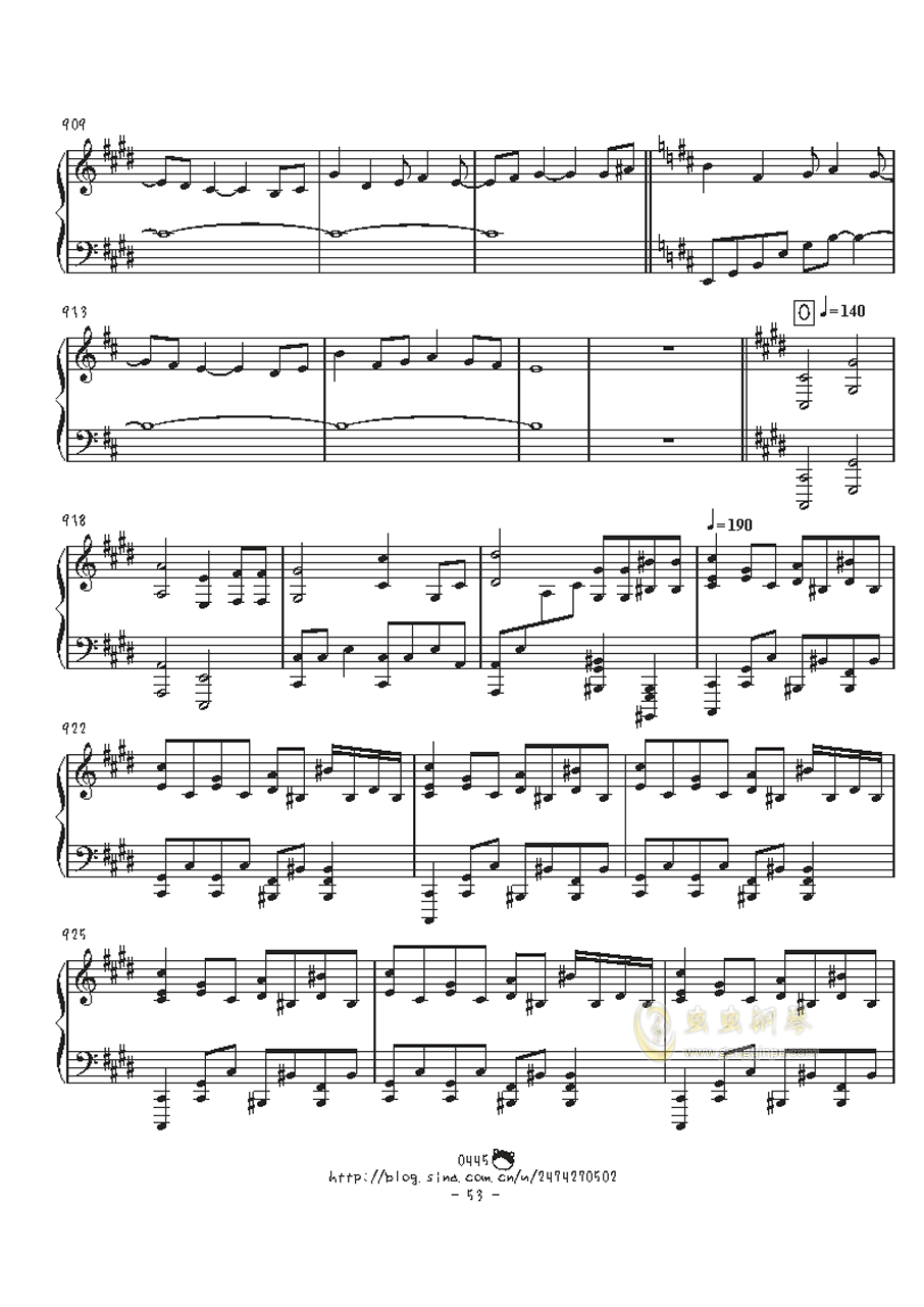 幻想游戏钢琴谱 第53页