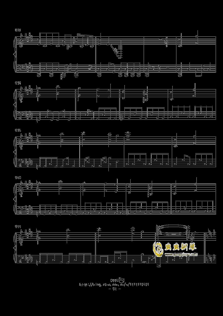 幻想游戏钢琴谱 第54页