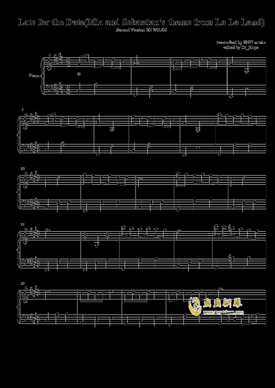 La La Land钢琴谱 第1页
