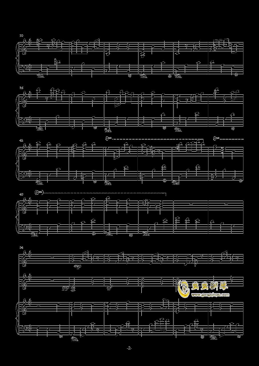 雪印(总谱)钢琴谱 第2页