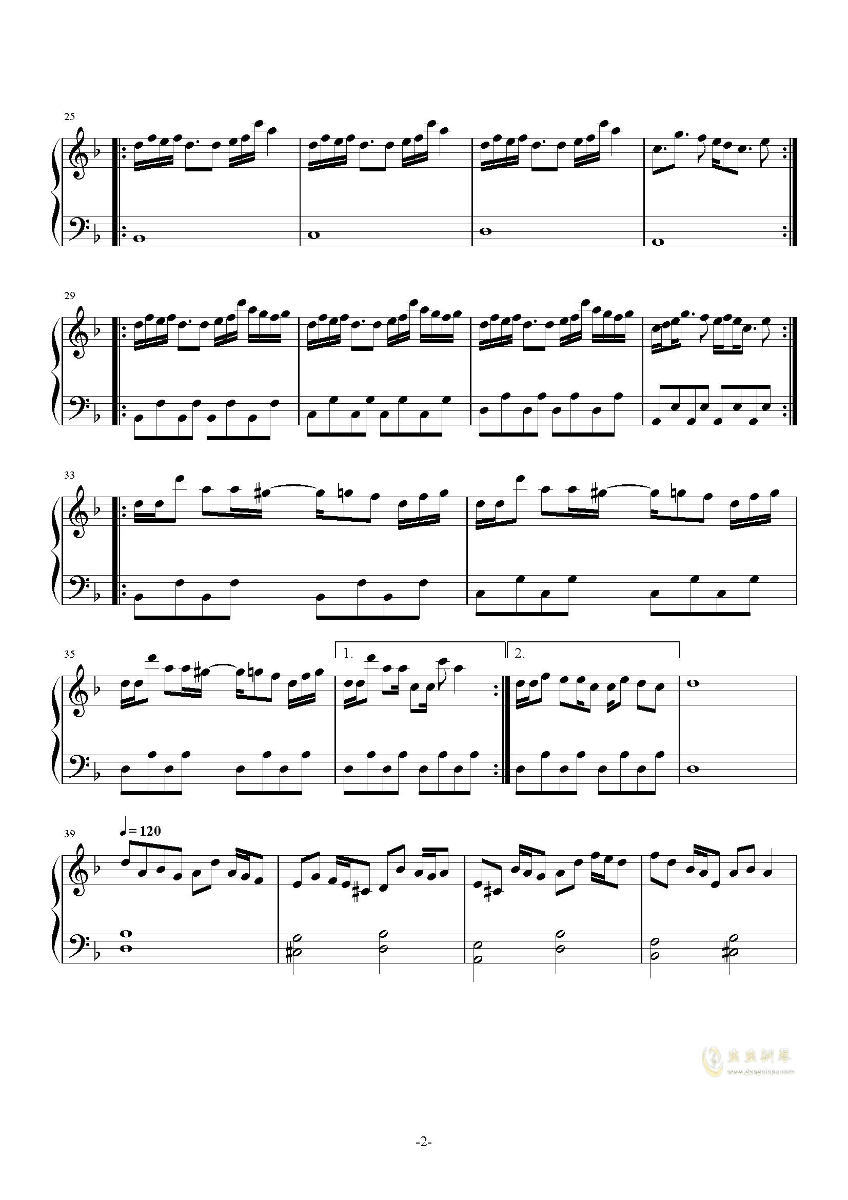 A5ri31钢琴谱 第2页