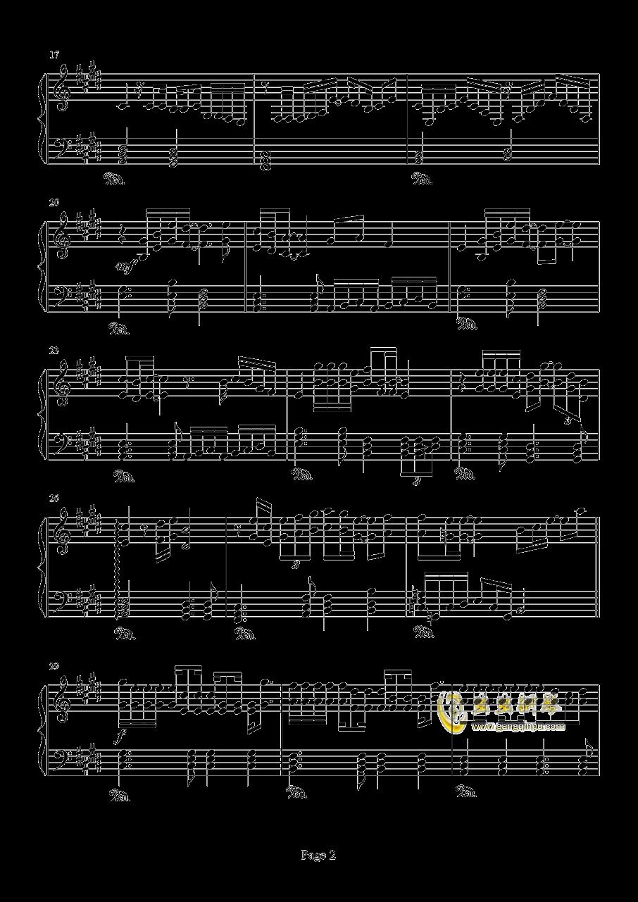 爱如潮水钢琴谱 第2页