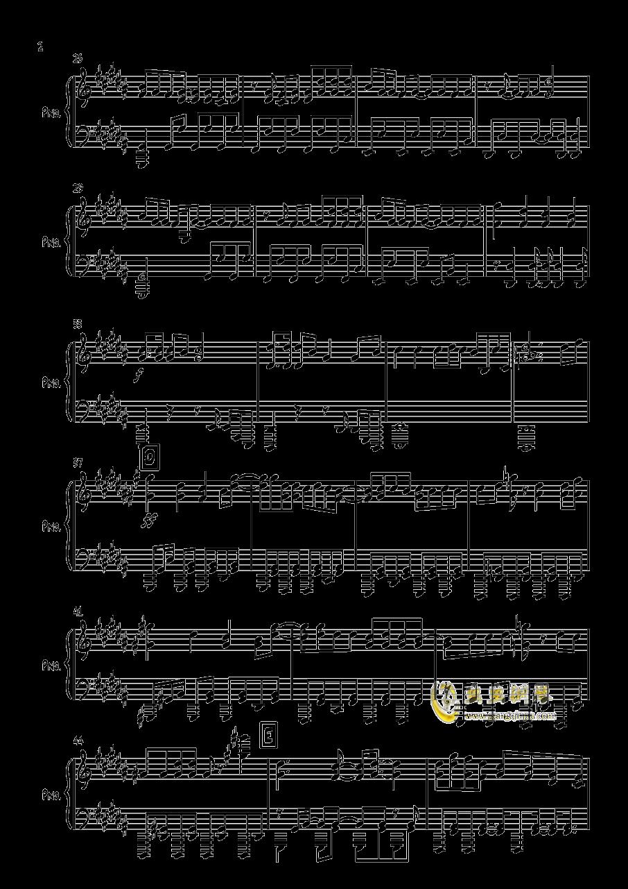 太陽系デスコ钢琴谱 第2页
