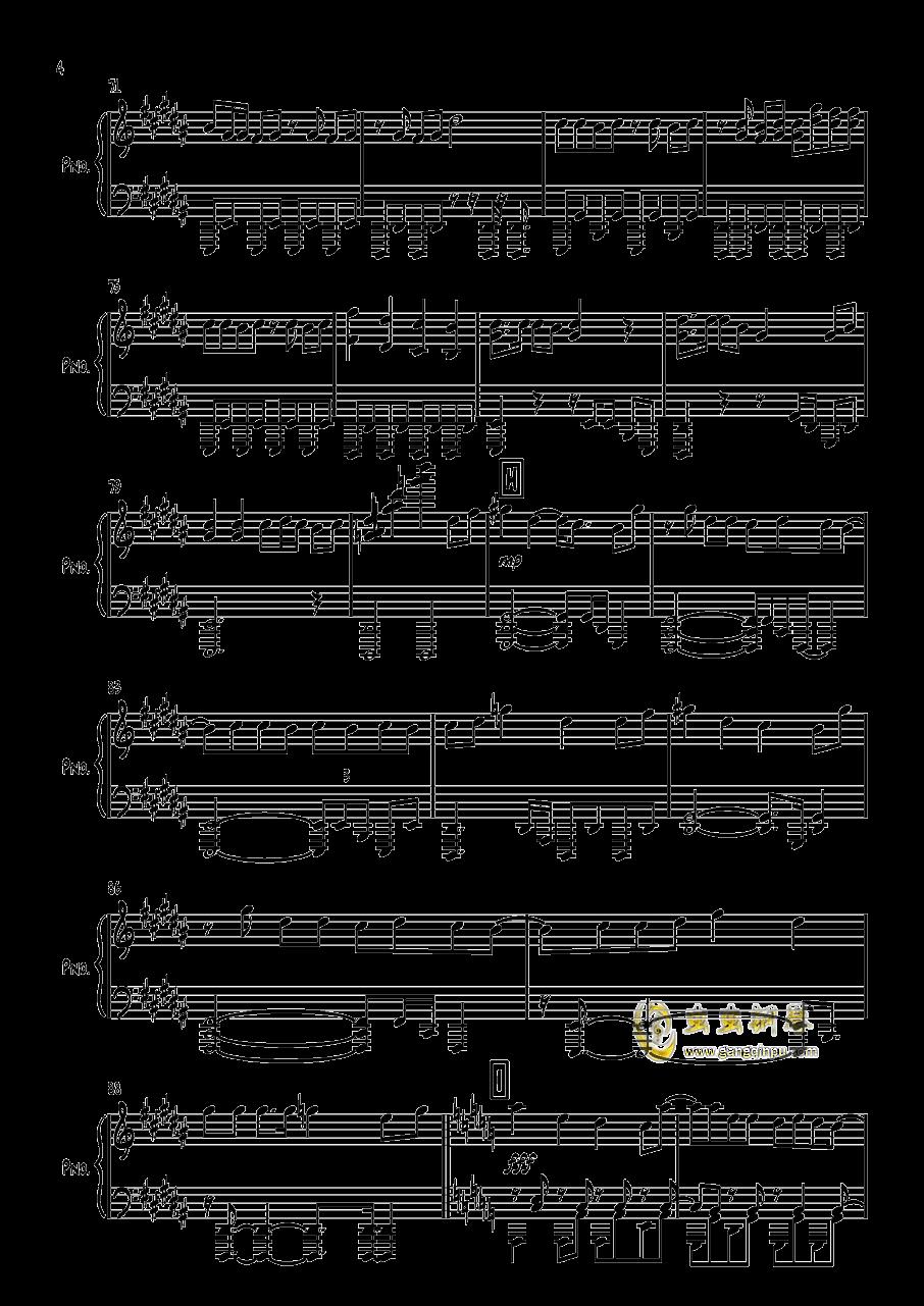 太陽系デスコ钢琴谱 第4页