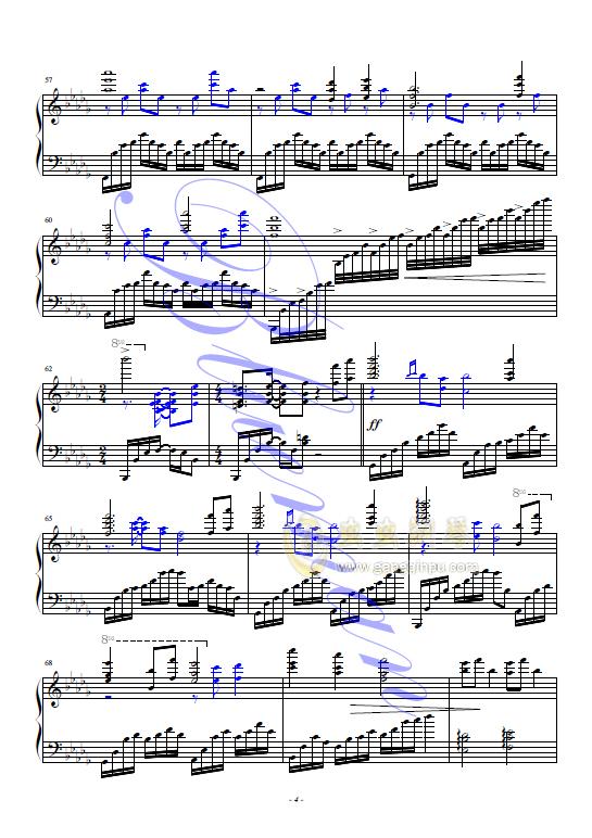 大鱼钢琴谱 第4页