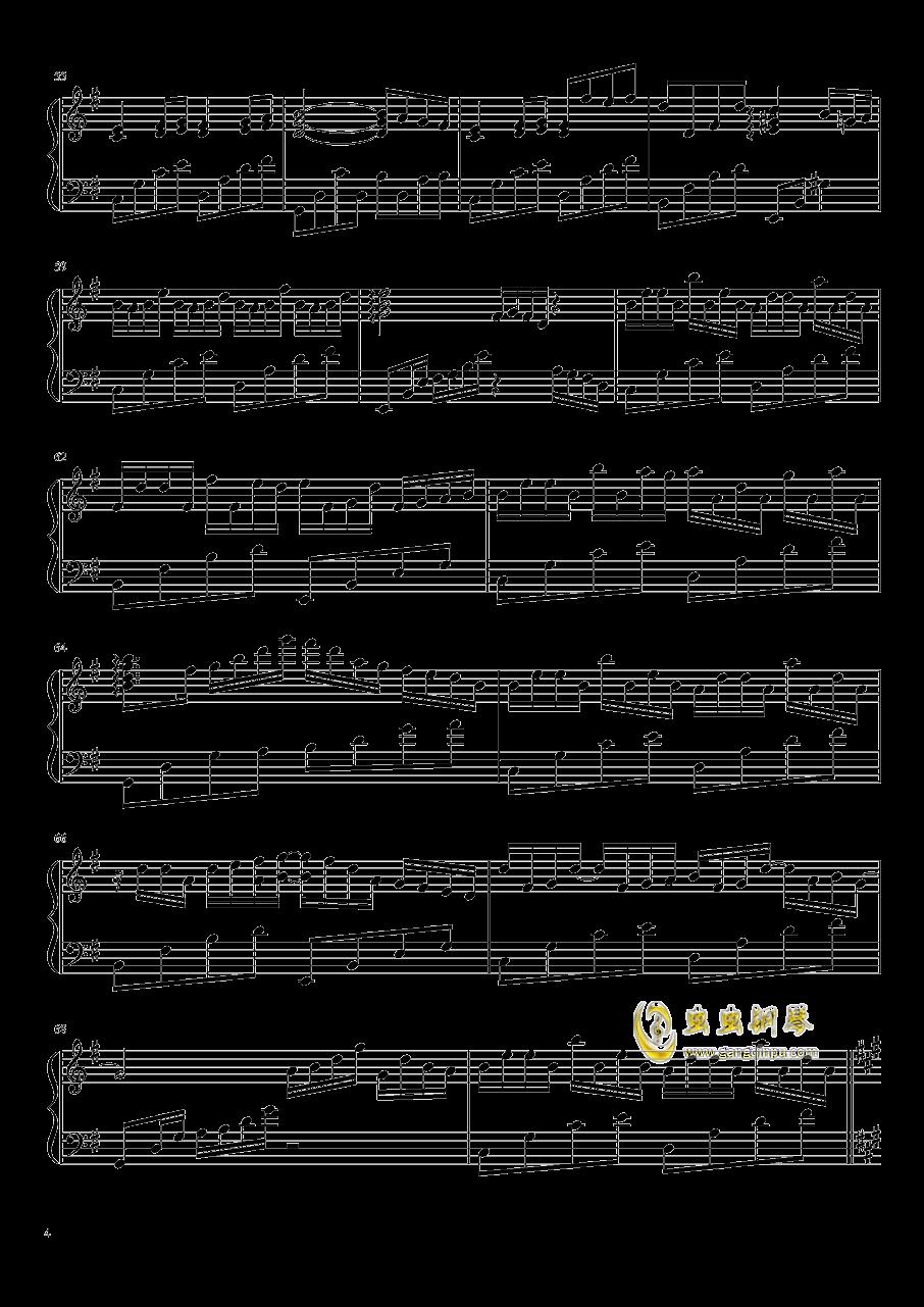 与你同在钢琴谱 第4页