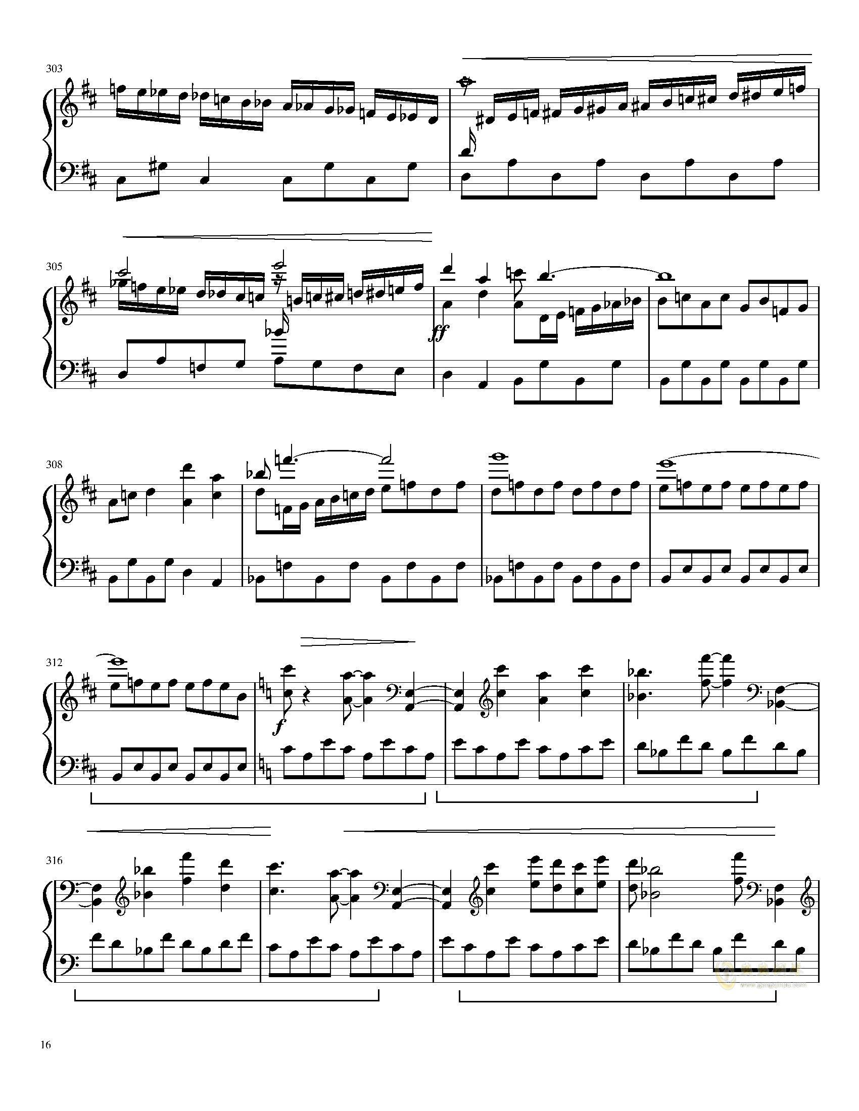 口袋妖怪初代全BGM串烧钢琴谱 第16页