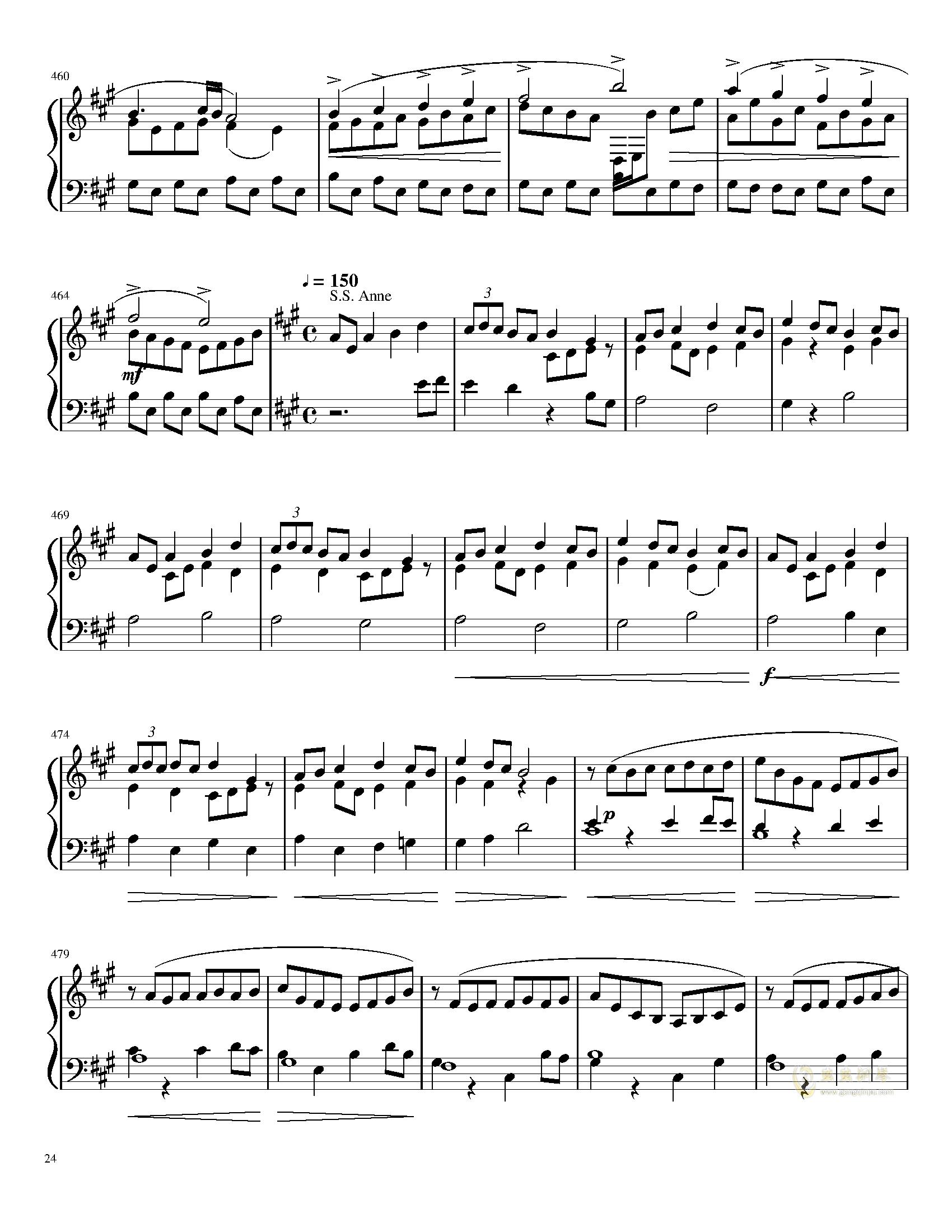 口袋妖怪初代全BGM串烧钢琴谱 第24页