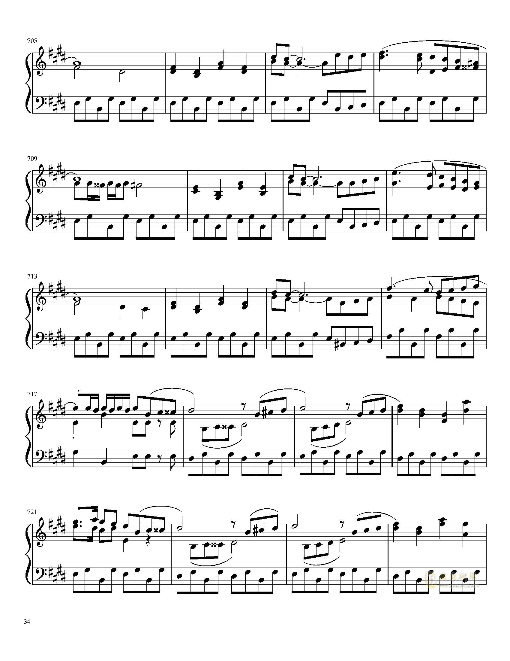 口袋妖怪初代全BGM串烧钢琴谱 第34页