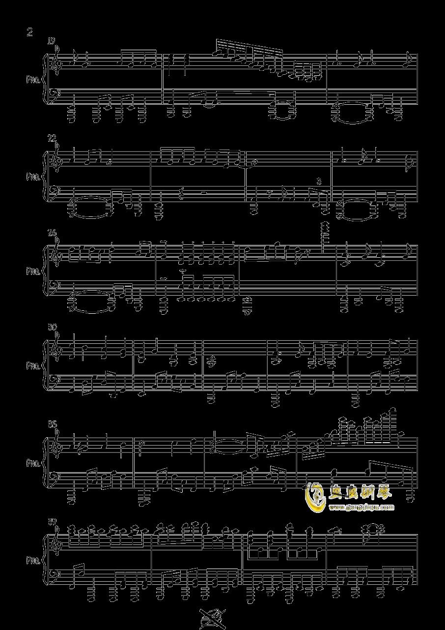 す�`ぱ�`ぬこわ�`るど钢琴谱 第2页