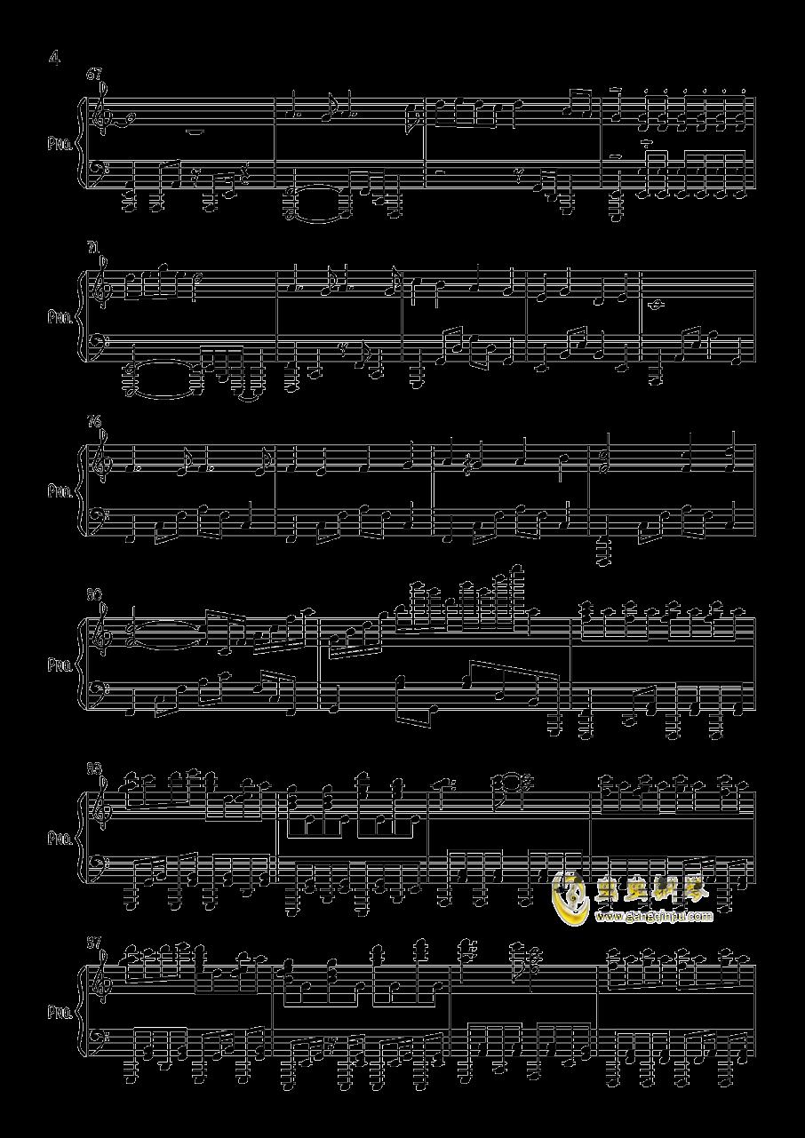 す�`ぱ�`ぬこわ�`るど钢琴谱 第4页