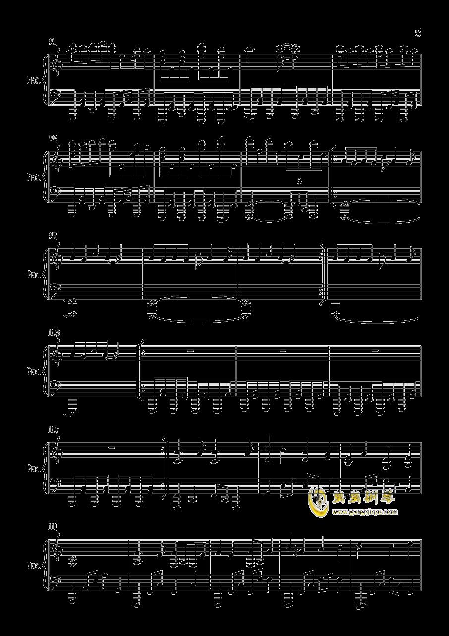 す�`ぱ�`ぬこわ�`るど钢琴谱 第5页